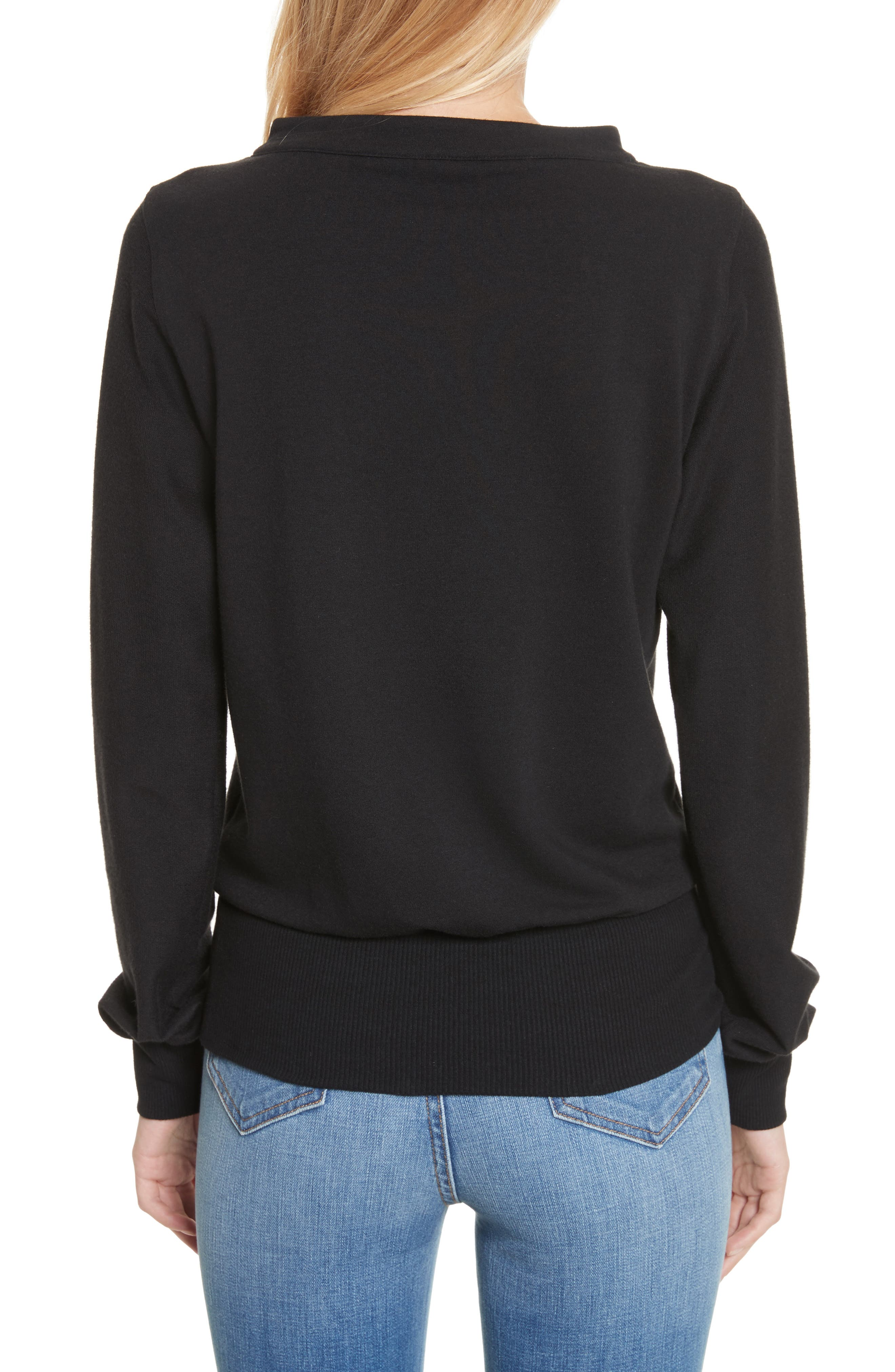 Josilyn Lace-Up Sweatshirt,                             Alternate thumbnail 2, color,                             001