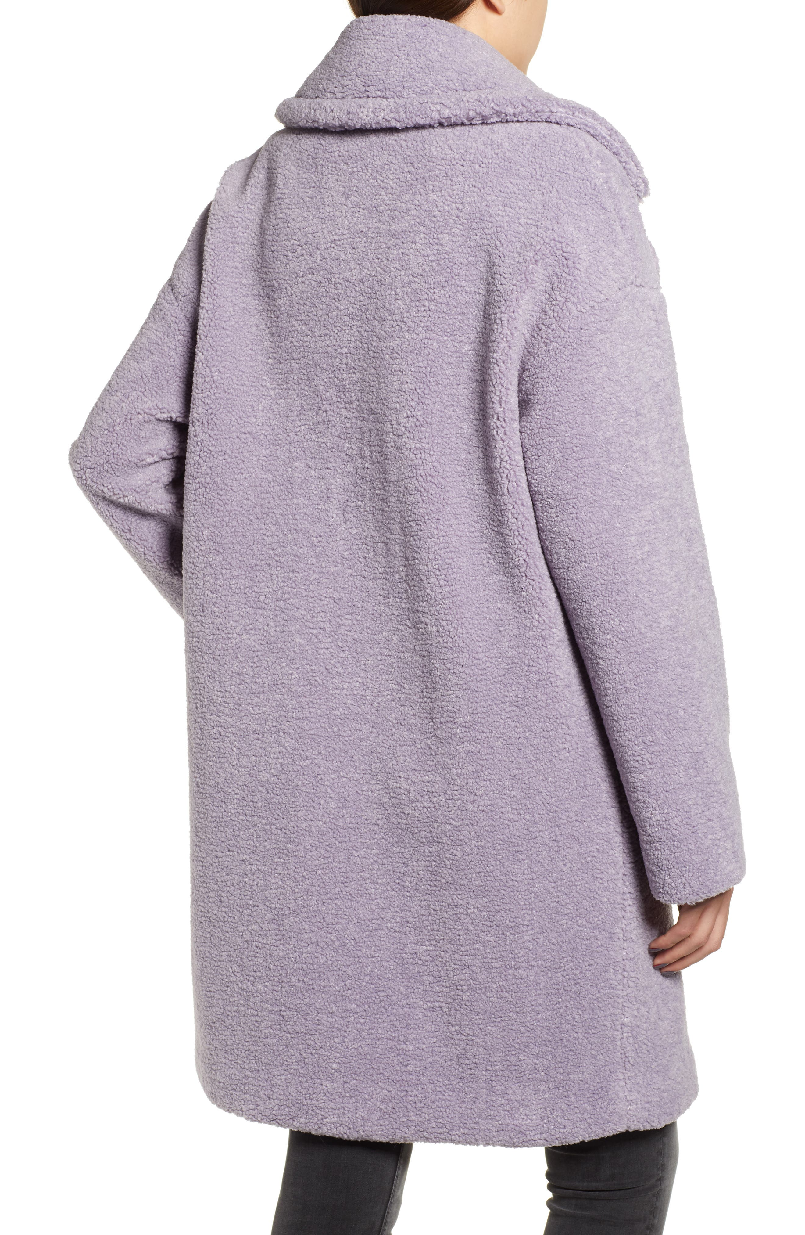 Faux Fur Teddy Coat,                             Alternate thumbnail 2, color,                             LILAC
