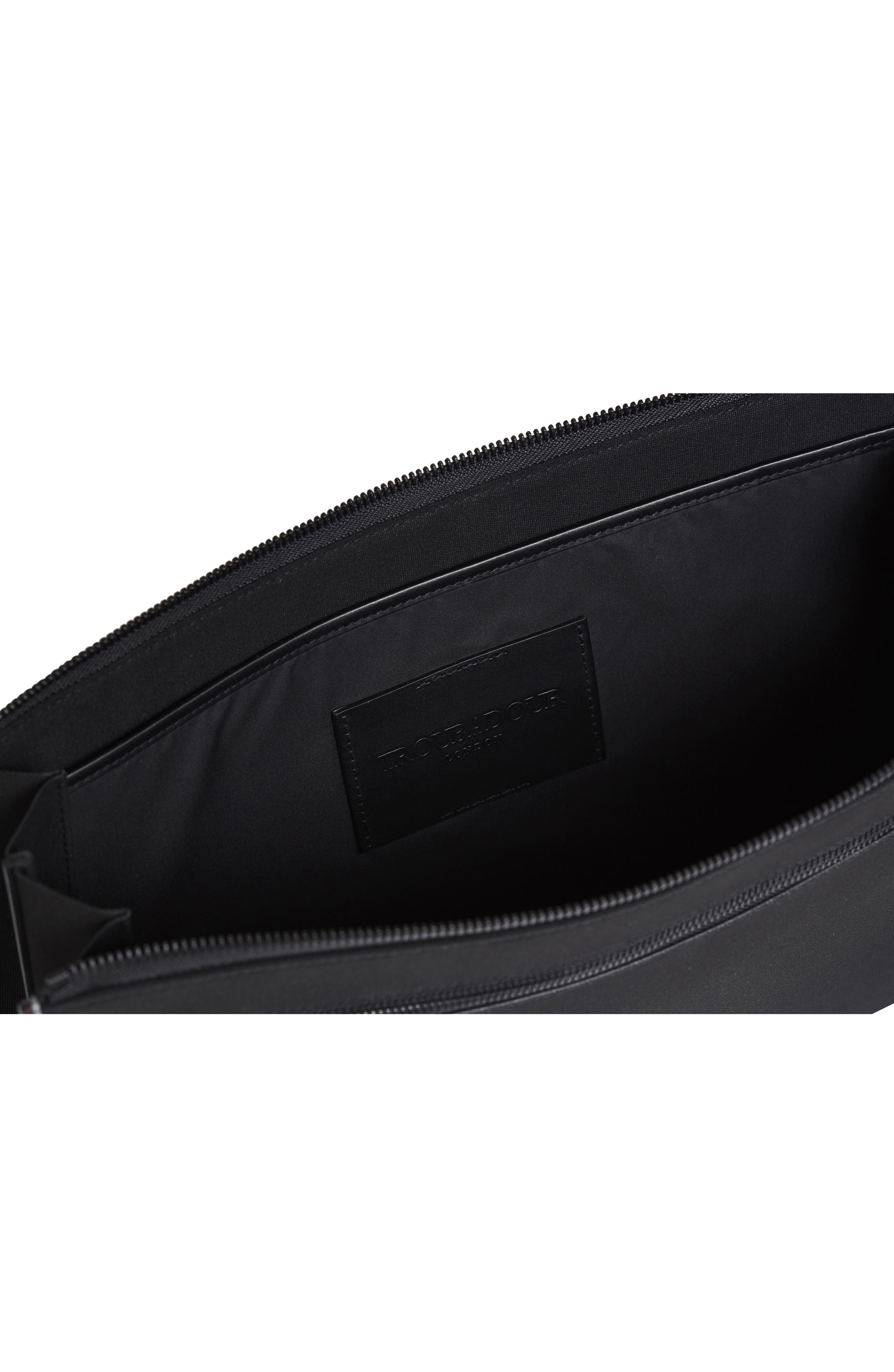 Portfolio Case,                             Alternate thumbnail 3, color,                             BLACK NYLON/ BLACK LEATHER