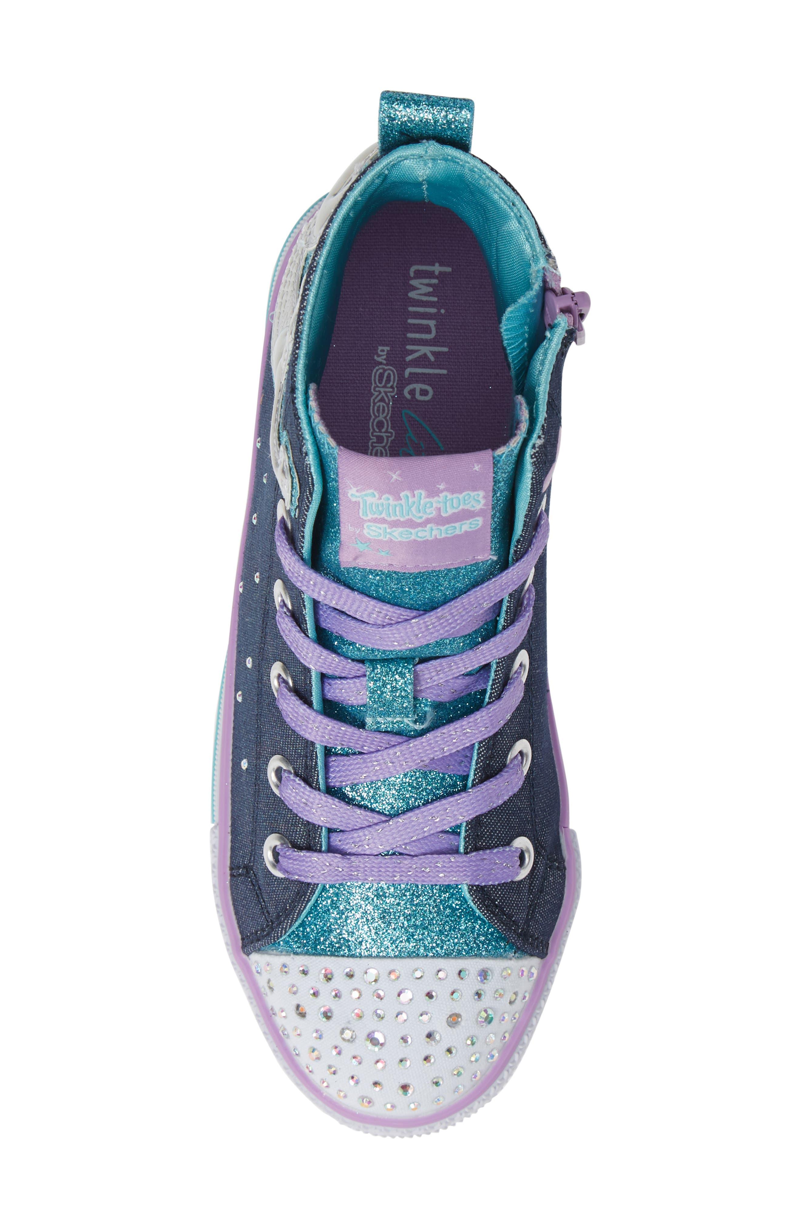 Twinkle Lite Glitter Sneaker,                             Alternate thumbnail 5, color,                             468