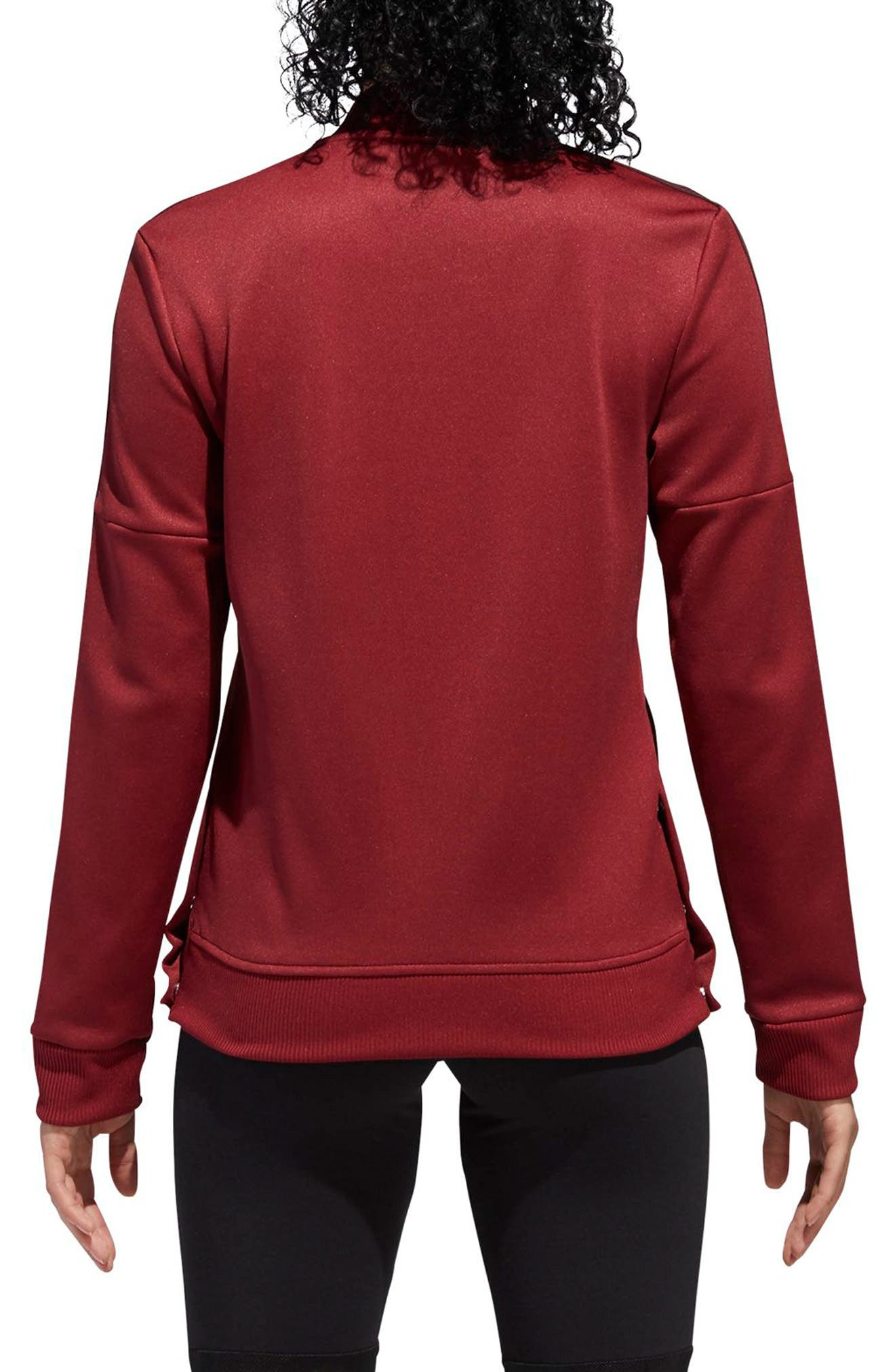 Snap Hem Track Jacket,                             Alternate thumbnail 2, color,                             NOBLE MAROON/ NIGHT RED