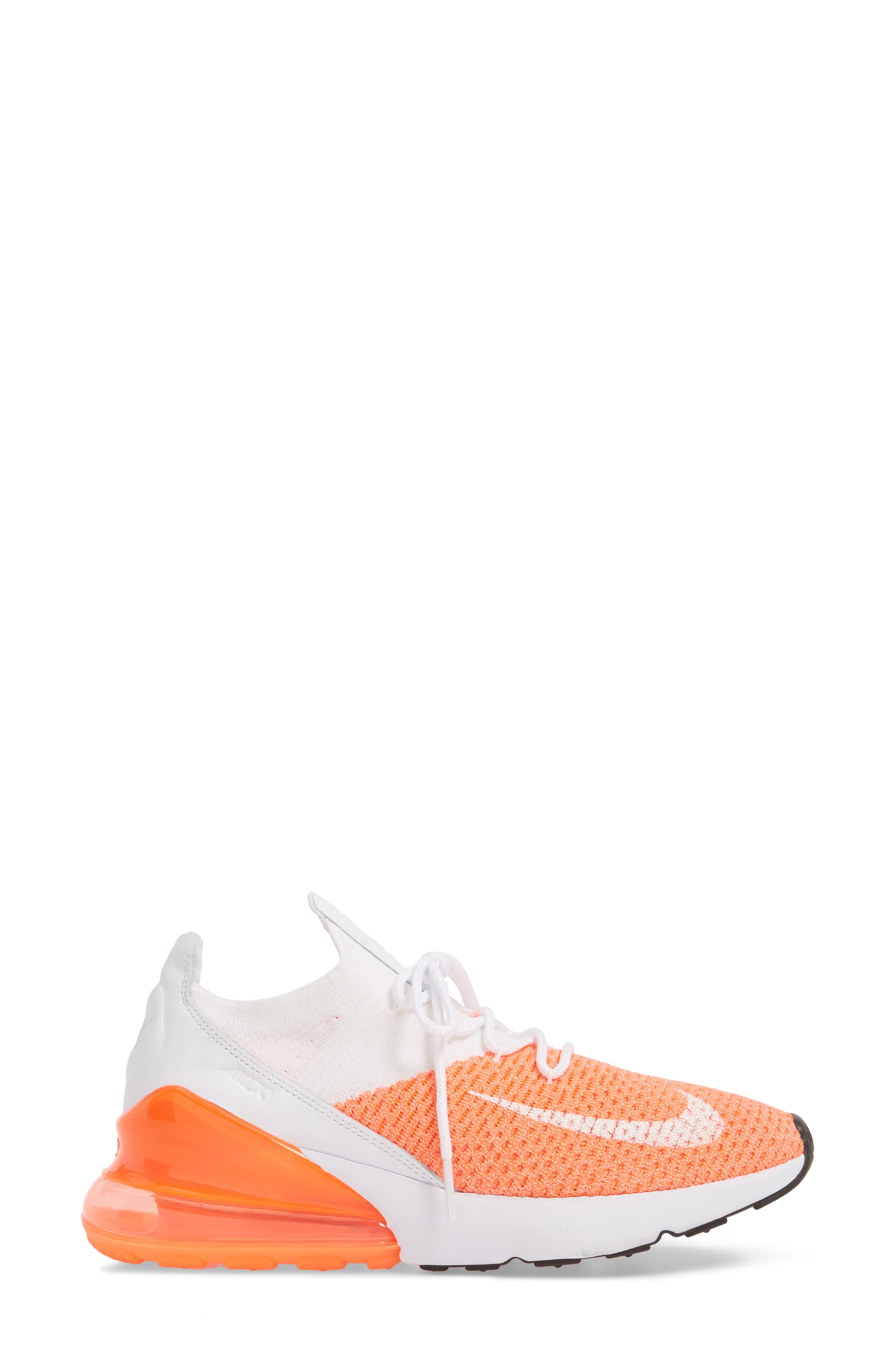 Air Max 270 Flyknit Sneaker,                             Alternate thumbnail 21, color,