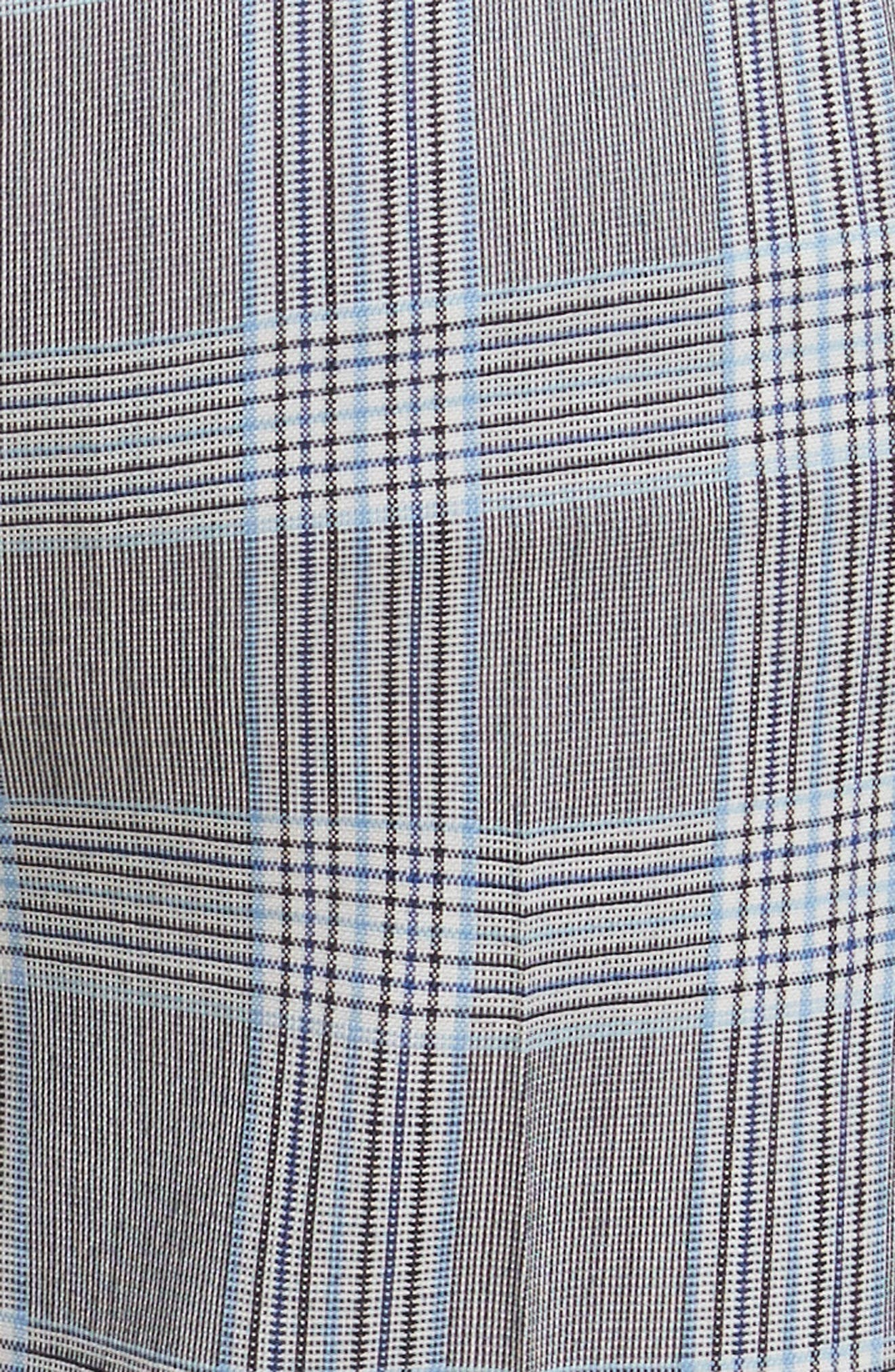 Maple Check 2 Straight Crop Trousers,                             Alternate thumbnail 5, color,                             115