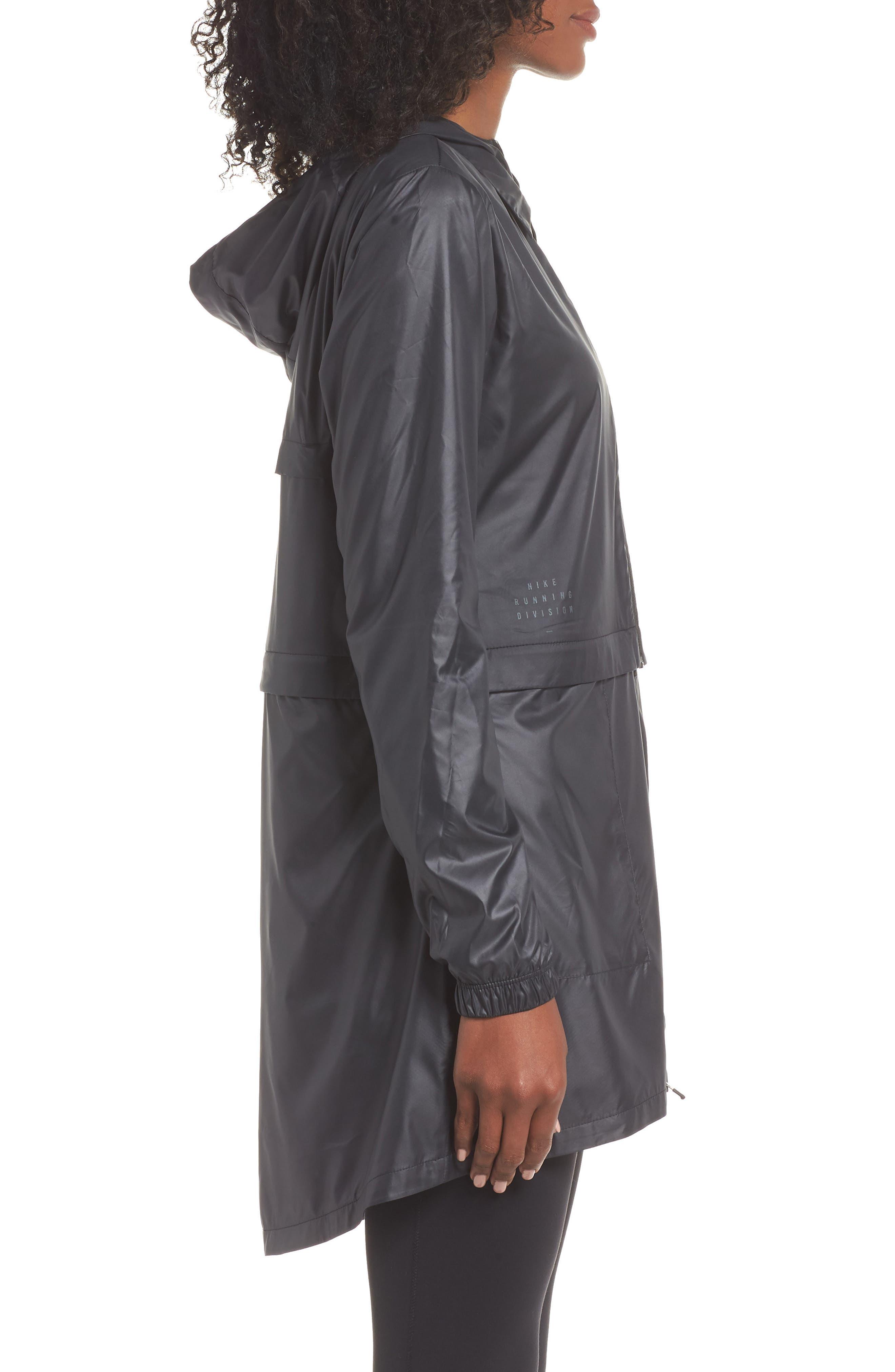 Women's Convertible Hooded Running Jacket,                             Alternate thumbnail 4, color,                             010