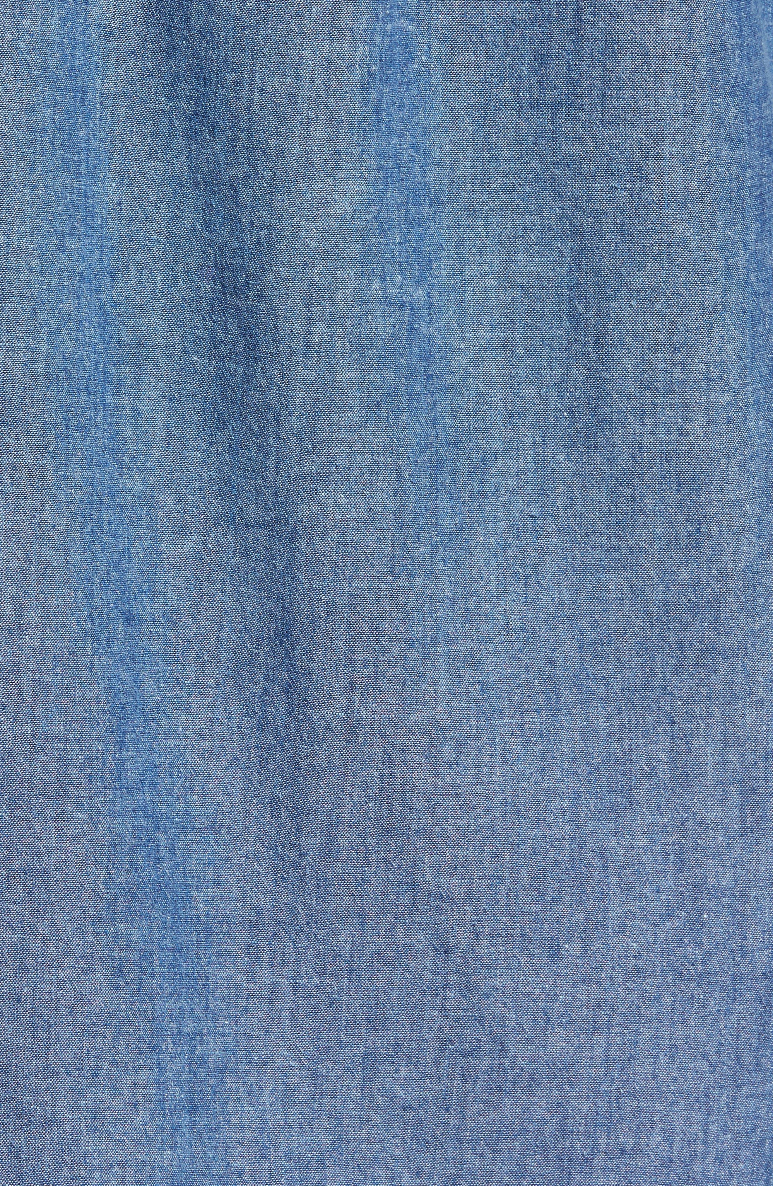 Carlow Chambray Woven Shirt,                             Alternate thumbnail 5, color,