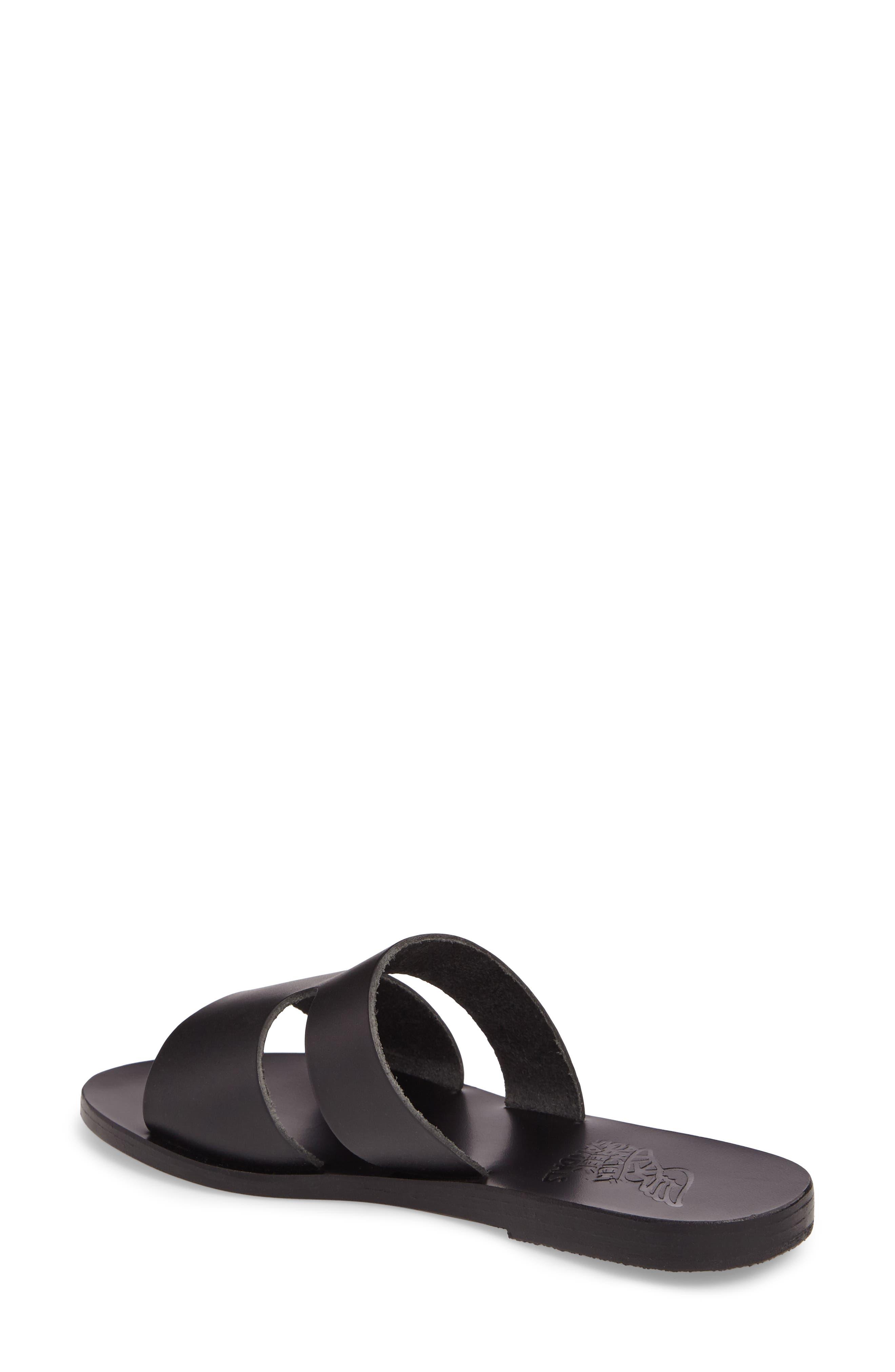 Apteros Genuine Calf Hair Slide Sandal,                             Alternate thumbnail 2, color,                             001