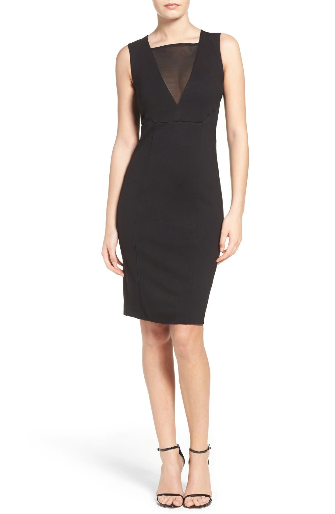 Lulu Body-Con Dress,                             Alternate thumbnail 5, color,                             001