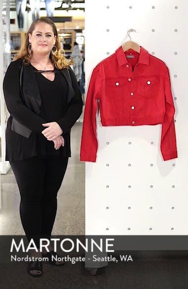 Annie Crop Denim Jacket, sales video thumbnail