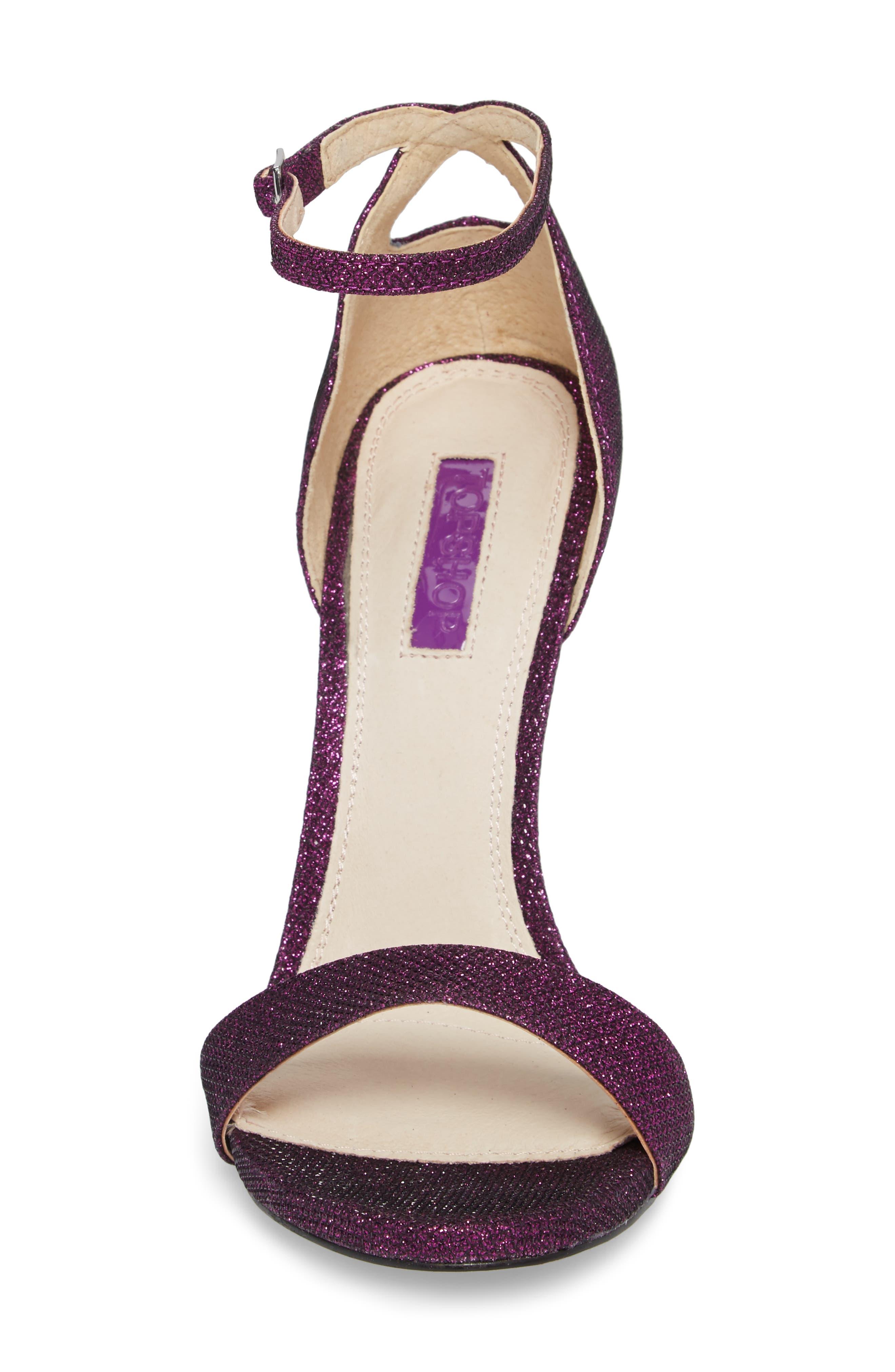 Raphie Ankle Strap Sandal,                             Alternate thumbnail 4, color,                             PURPLE