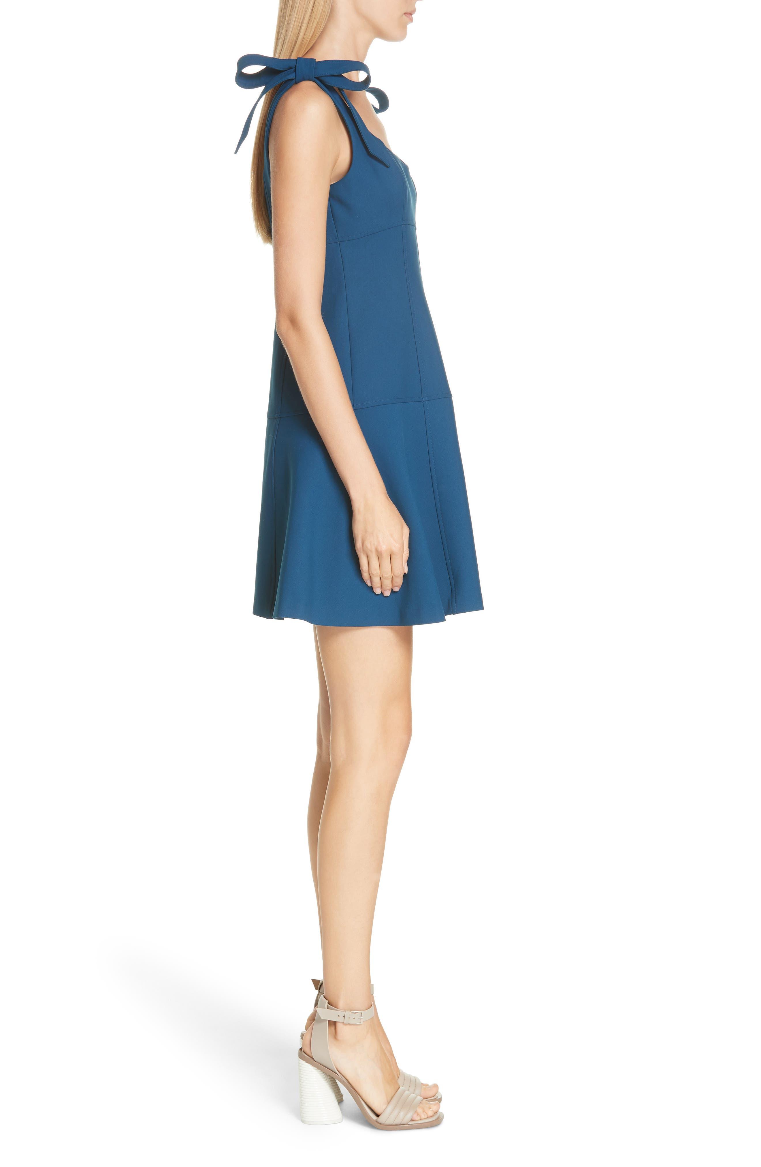 CINQ À SEPT,                             Jeanette Tie Strap Dress,                             Alternate thumbnail 3, color,                             495