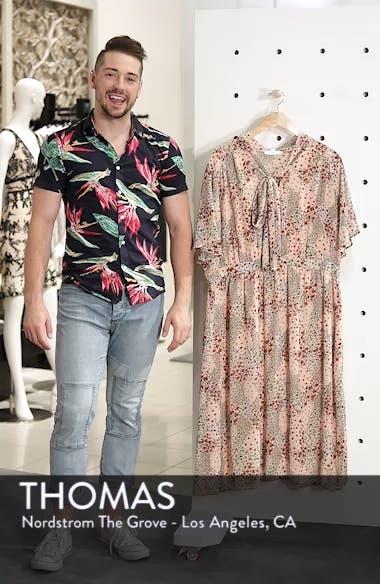 Tie Neck Floral Dress, sales video thumbnail