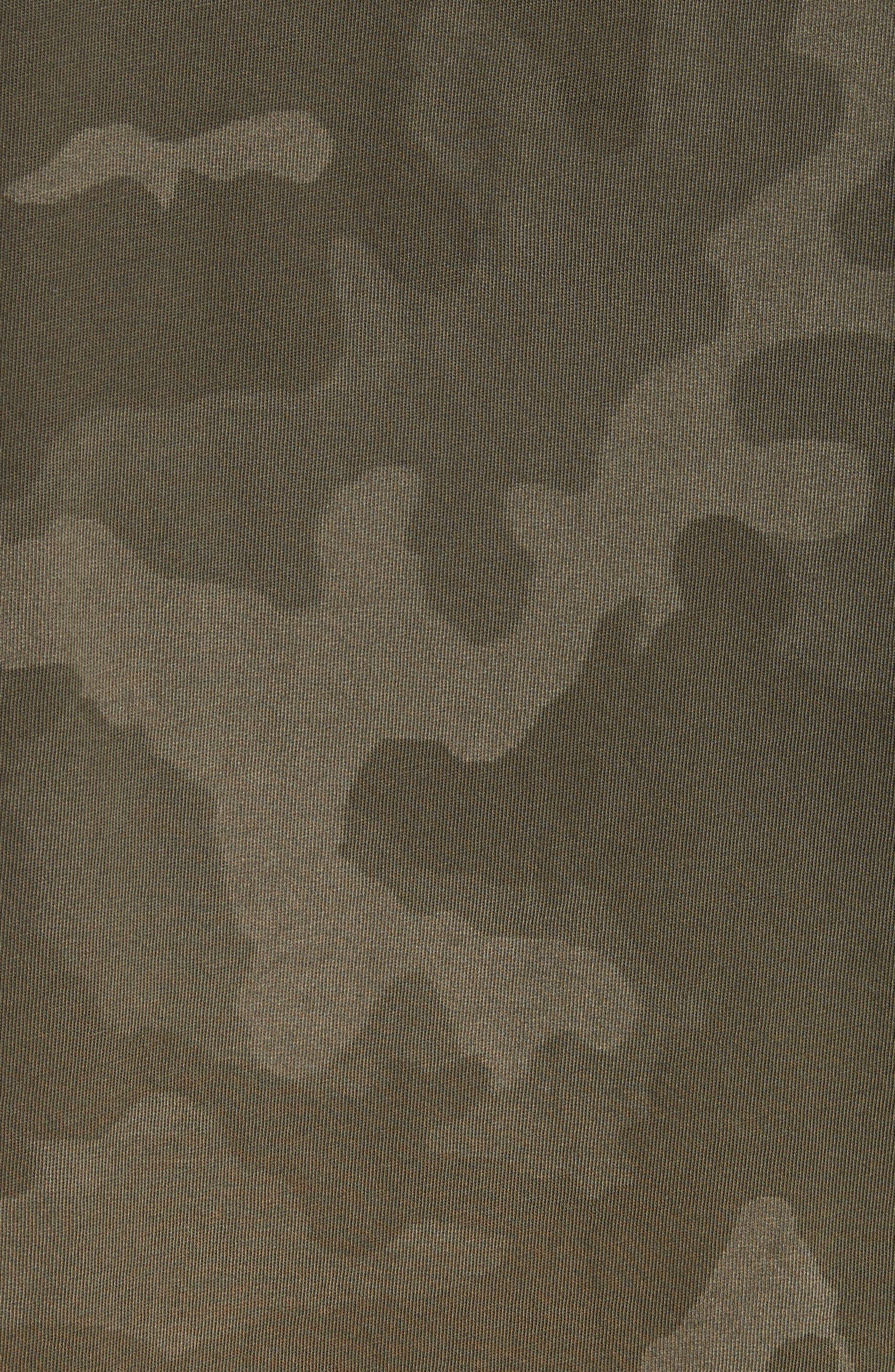 Camo Print Crewneck T-Shirt,                             Alternate thumbnail 5, color,                             341