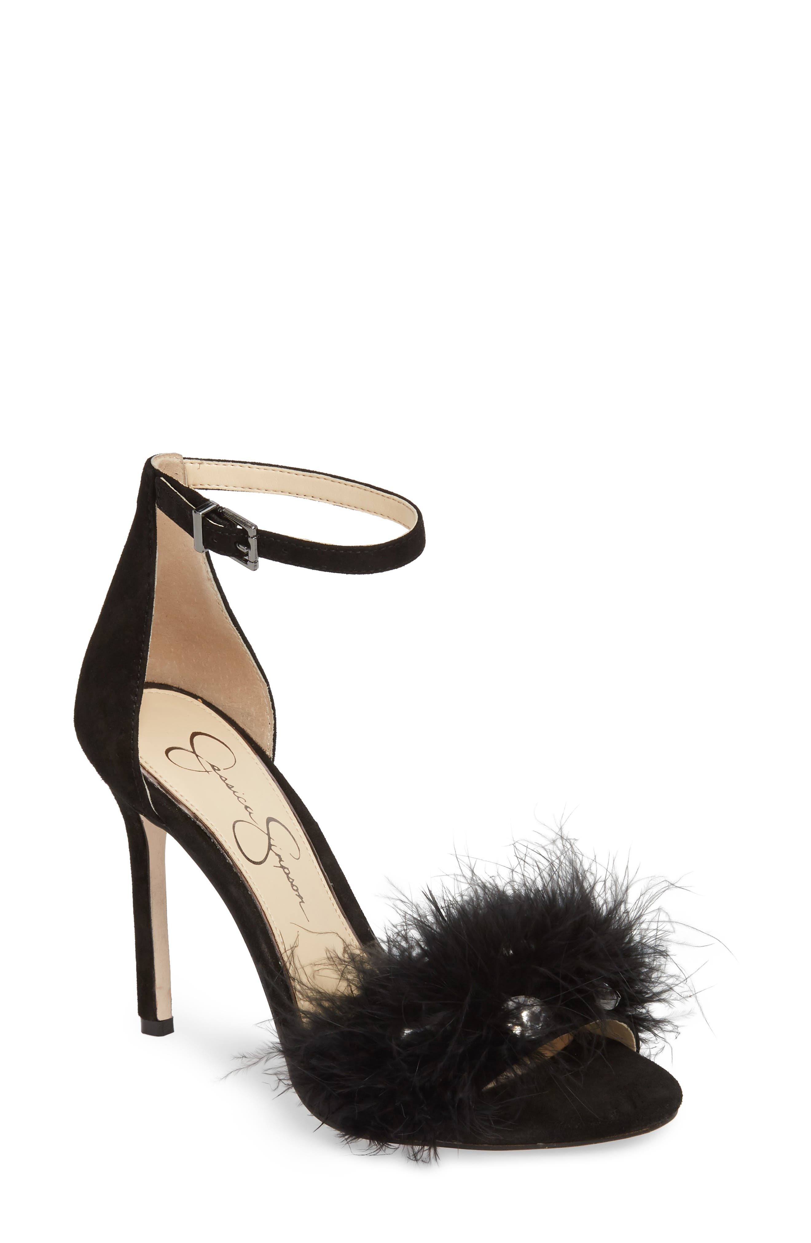 Jolinda Feathered Sandal,                         Main,                         color,