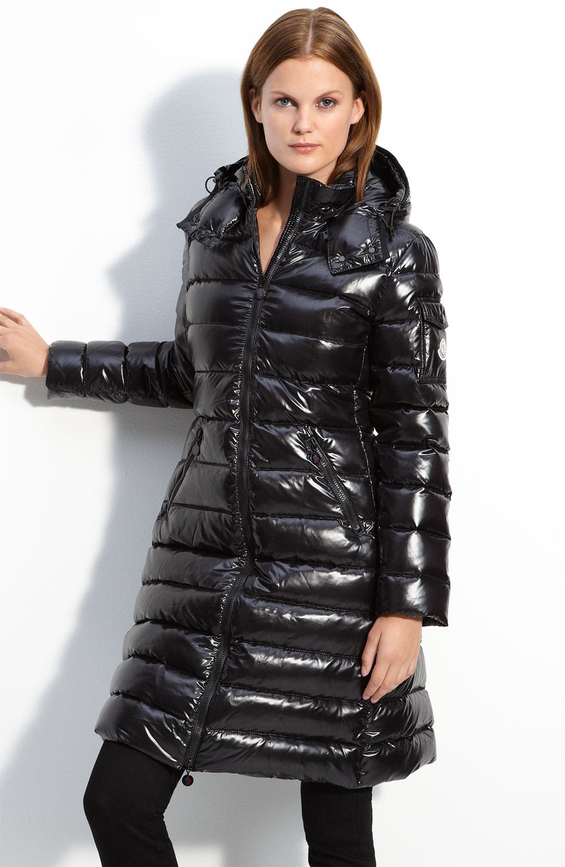 MONCLER 'Moka' Quilted Down Coat, Main, color, 001