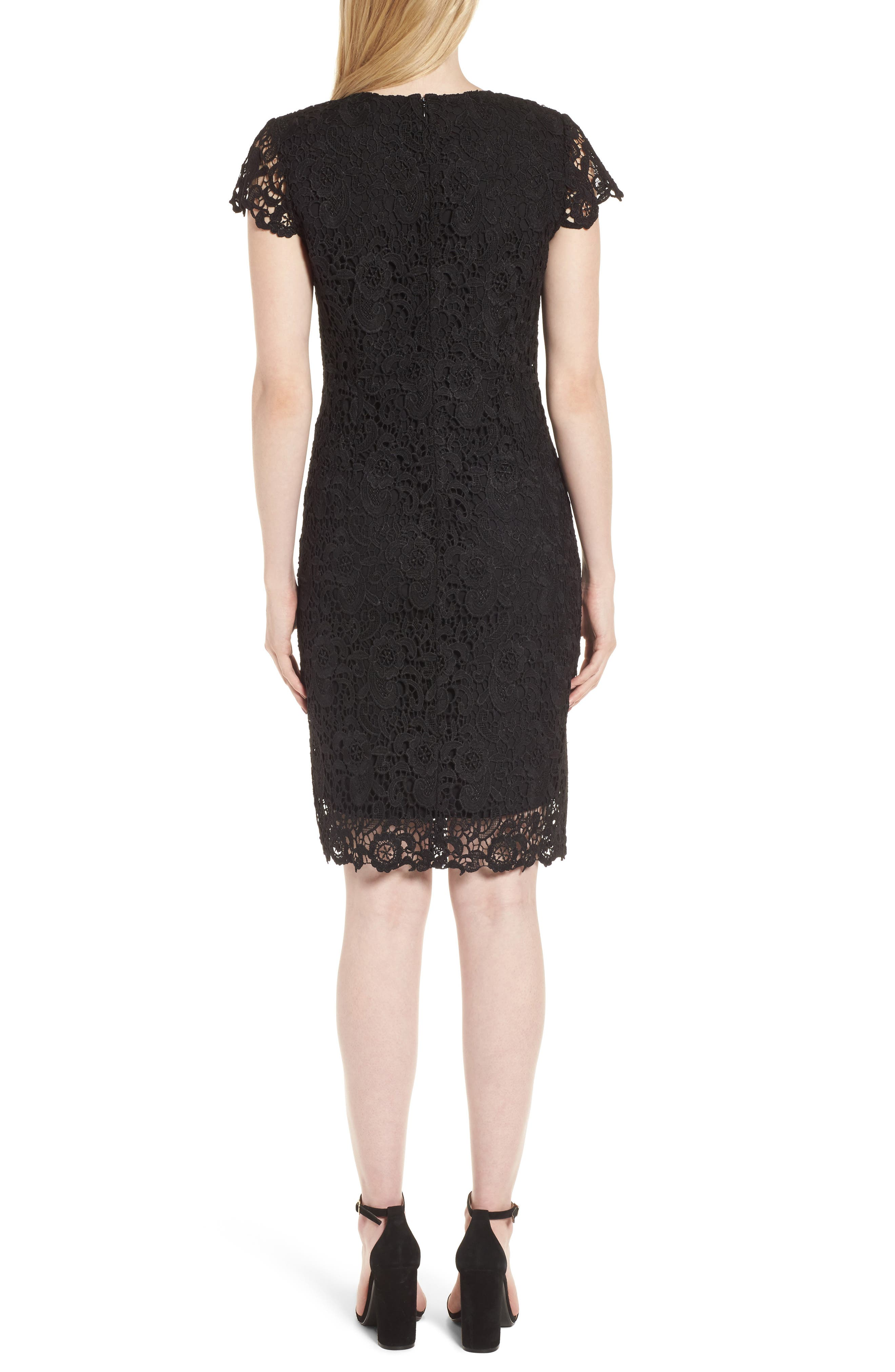 Lace Sheath Dress,                             Alternate thumbnail 2, color,