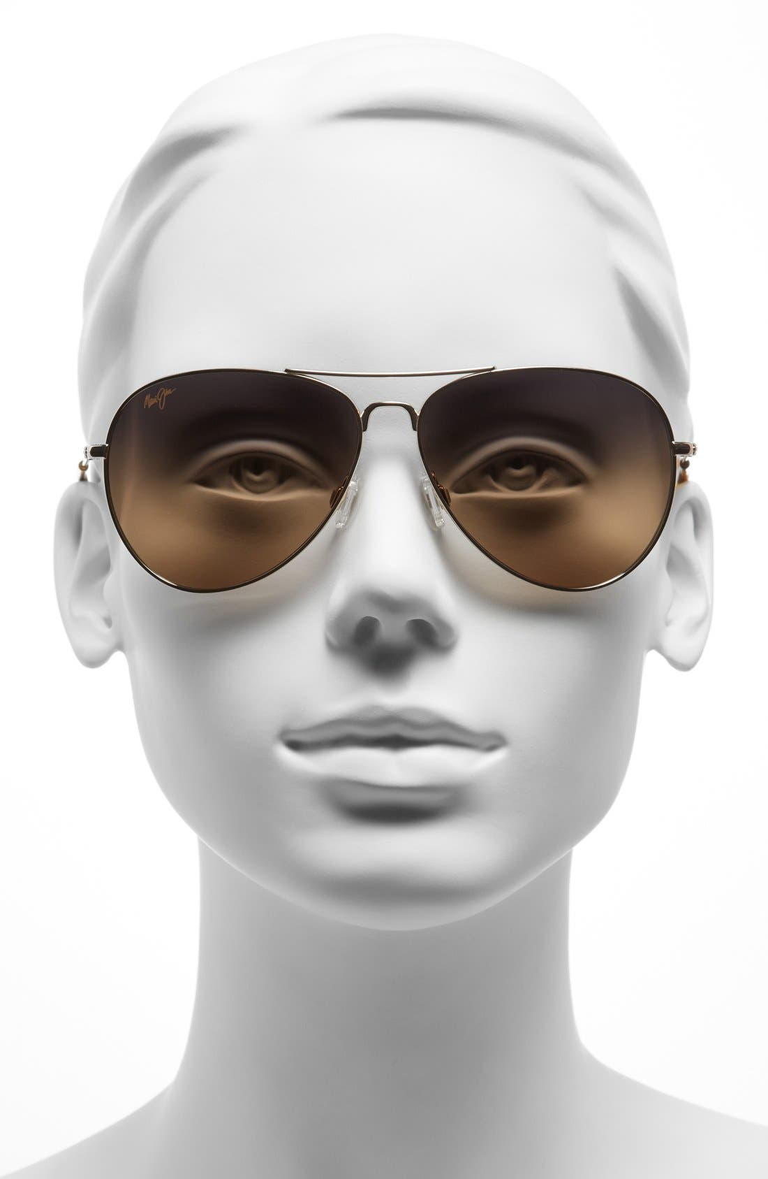 Mavericks 61mm PolarizedPlus2<sup>®</sup> Aviator Sunglasses,                             Alternate thumbnail 2, color,                             GOLD/ BRONZE