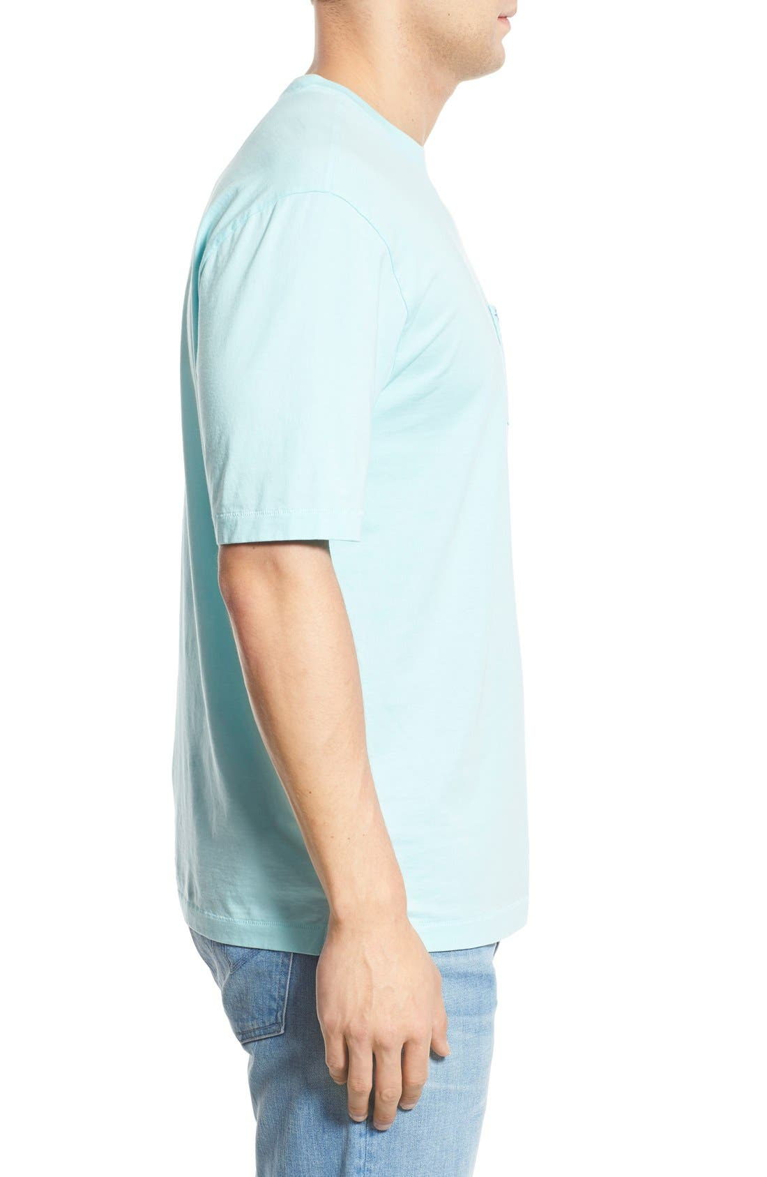 New Bali Sky Pima Cotton Pocket T-Shirt,                             Alternate thumbnail 93, color,