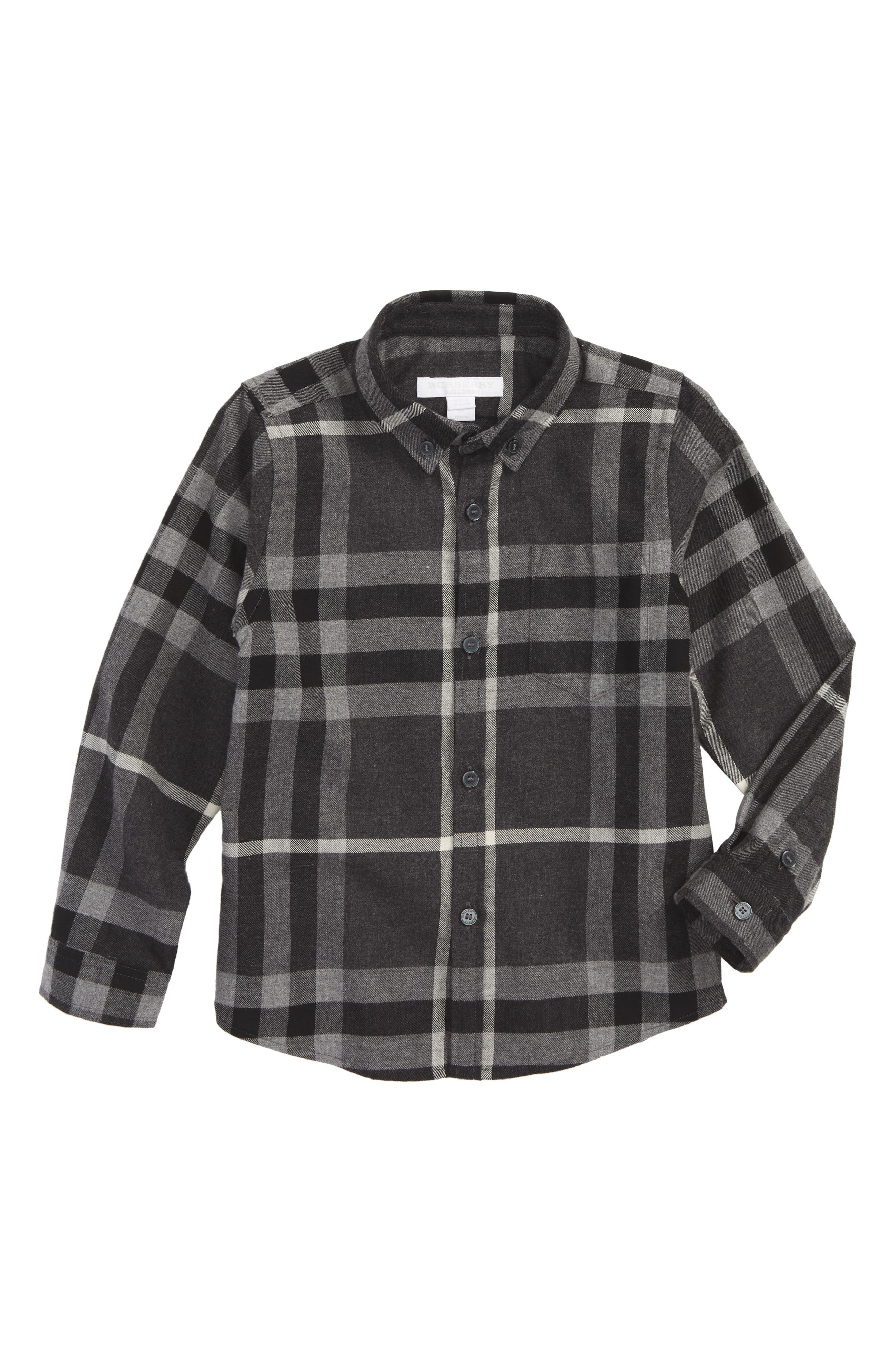 Mini Fred Plaid Shirt,                         Main,                         color, 024