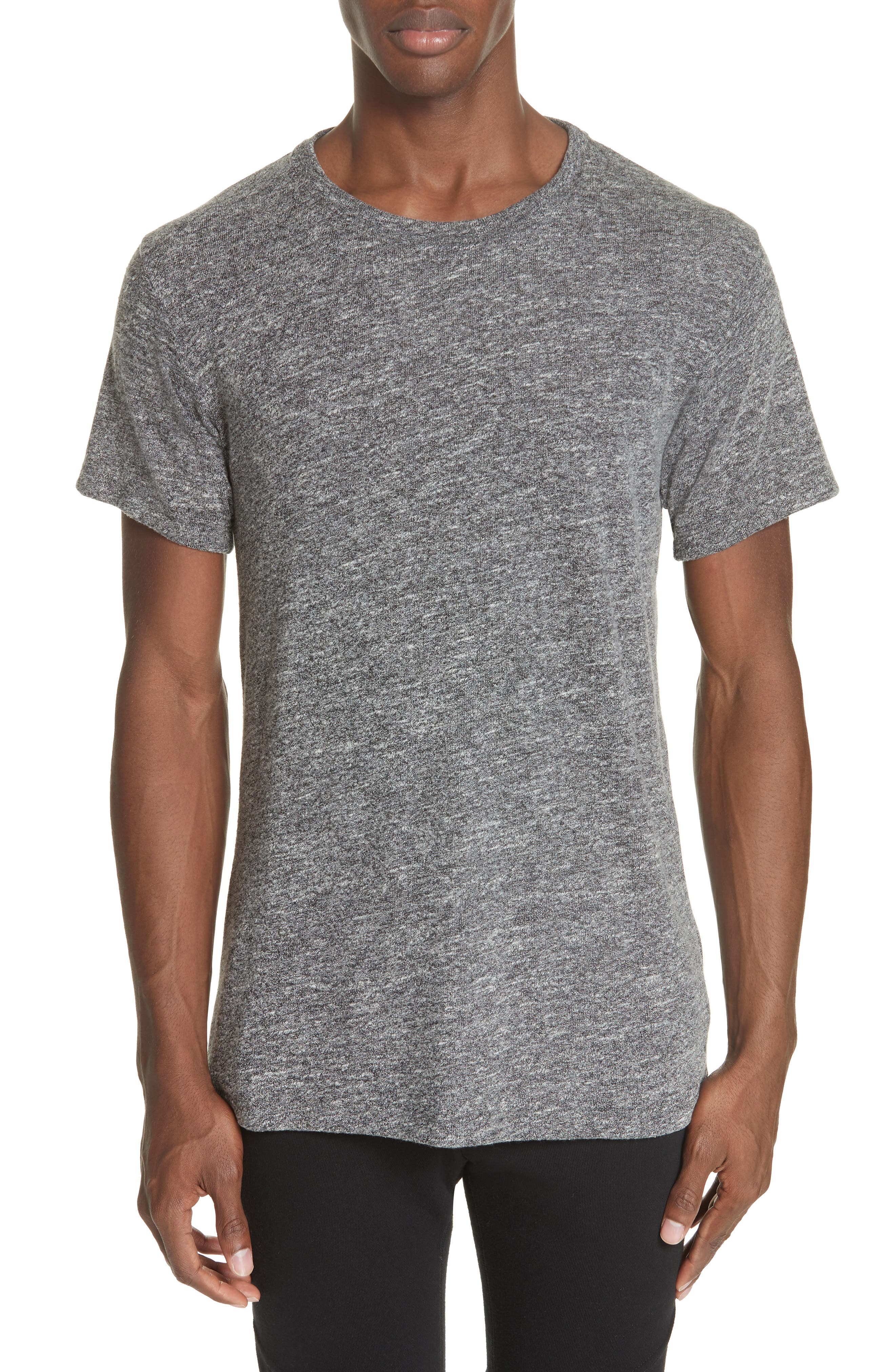 Classic Co-Mix Crew T-Shirt,                             Main thumbnail 1, color,                             CHARCOAL