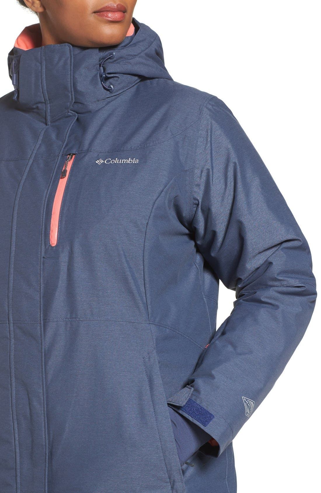 Alpine Action Waterproof Omni-Heat<sup>®</sup> Hooded Jacket,                             Alternate thumbnail 9, color,