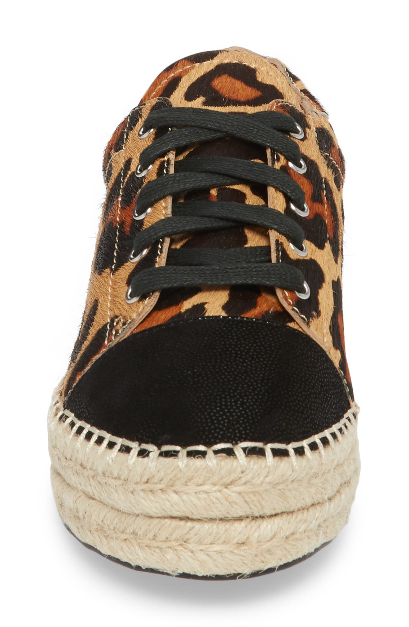 Sierra II Genuine Calf Hair Lace-Up Espadrille,                             Alternate thumbnail 4, color,                             212