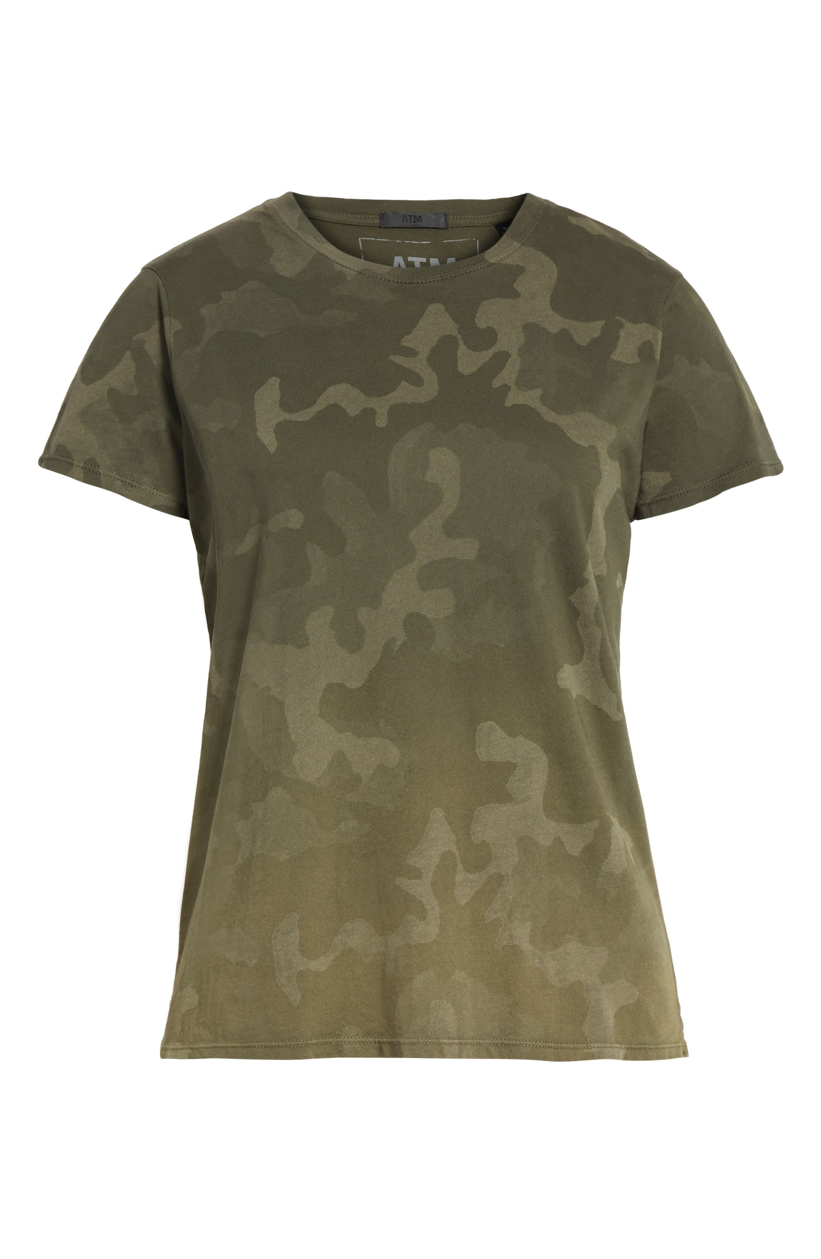 Camouflage Print Cotton Tee,                             Alternate thumbnail 6, color,                             341