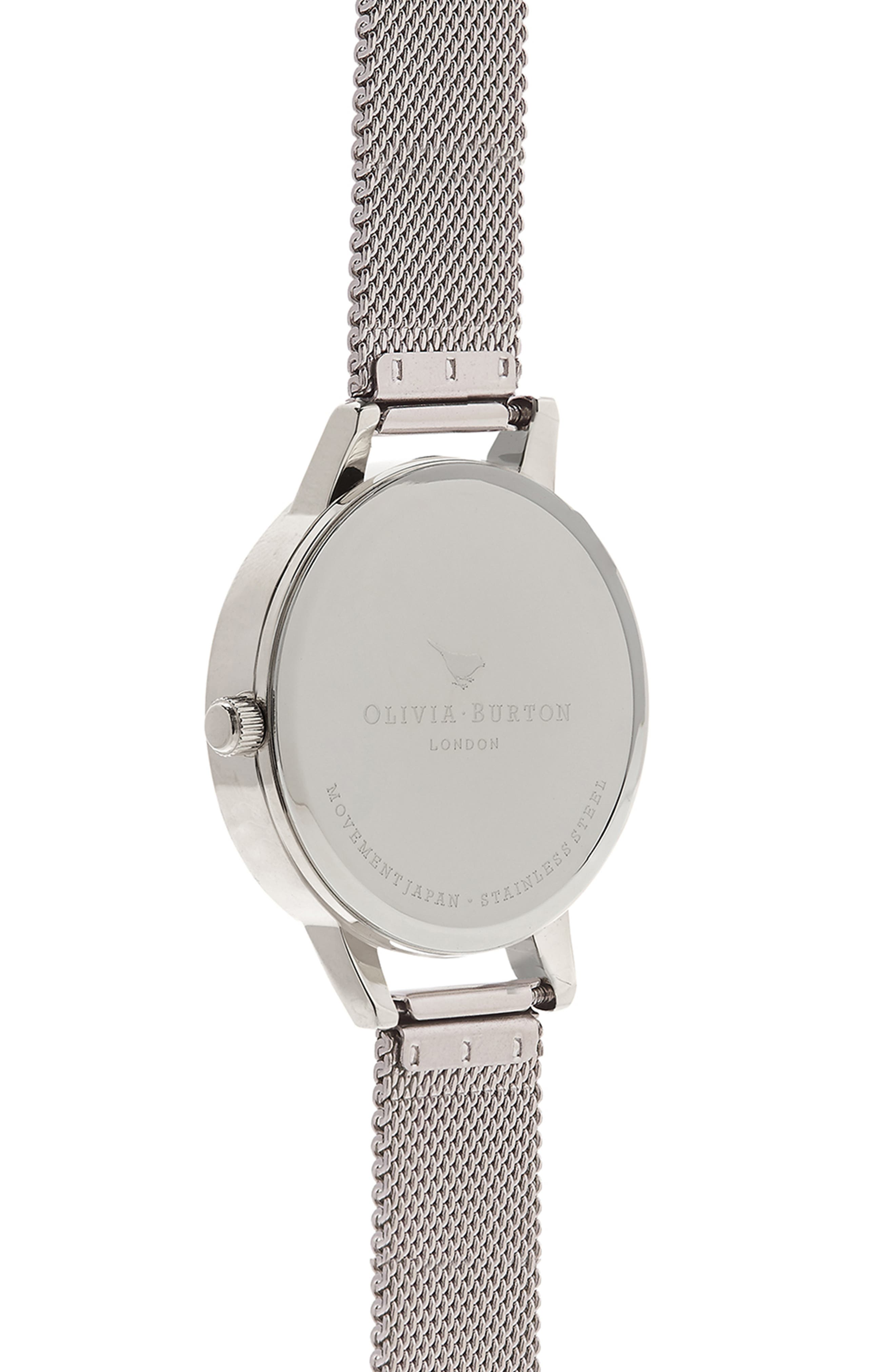 Round Mesh Strap Watch, 30mm,                             Alternate thumbnail 3, color,