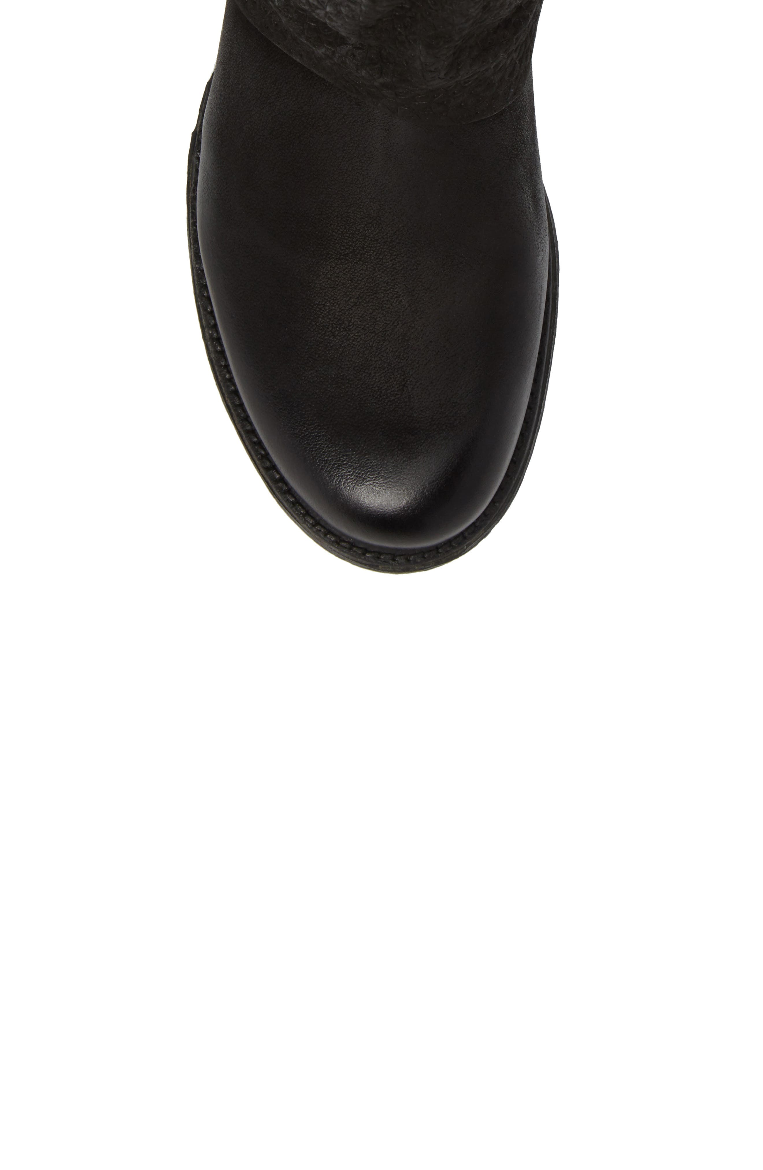 Nugget Asymmetrical Textured Boot,                             Alternate thumbnail 5, color,                             001