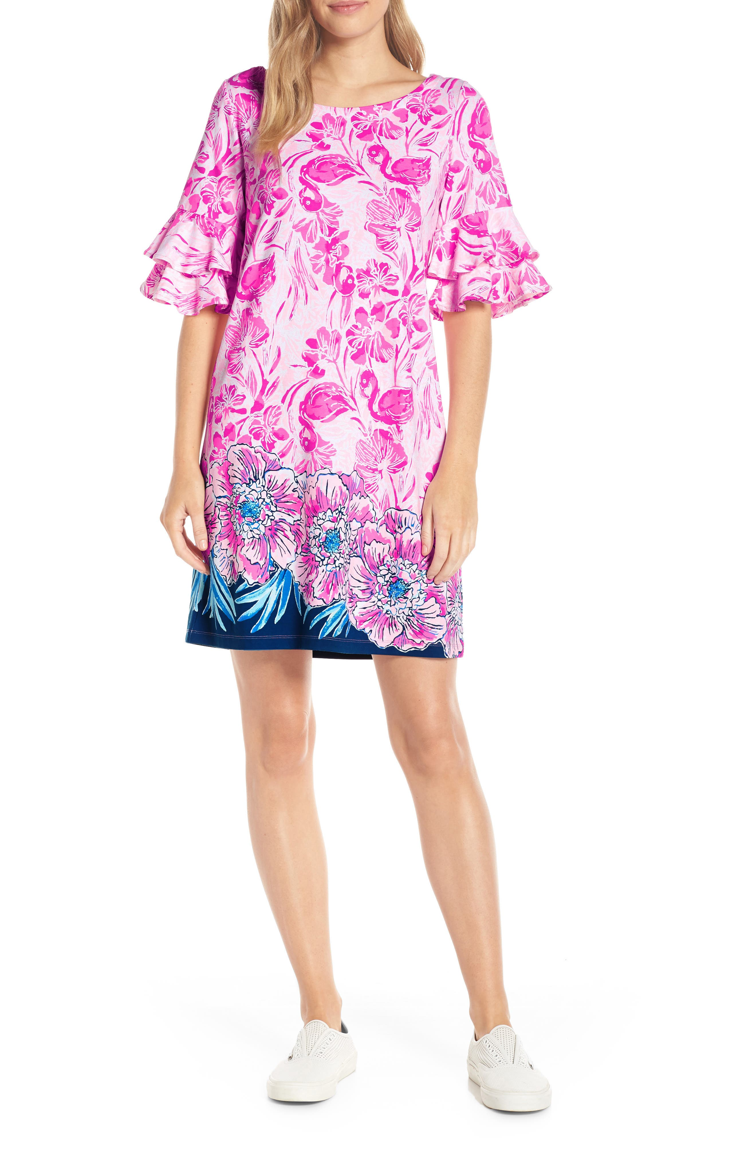 Lilly Pulitzer Lula Shift Dress, Coral
