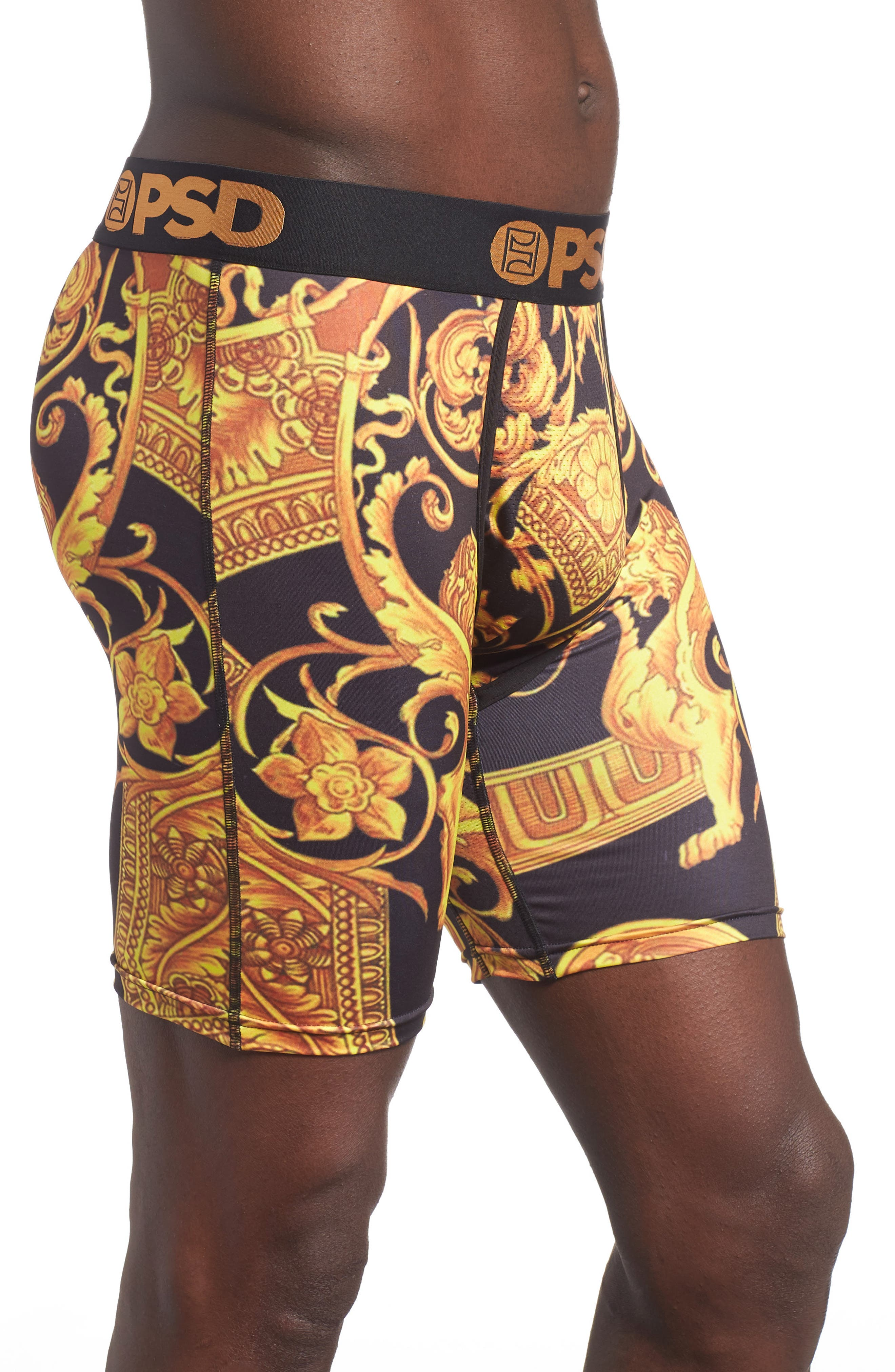 Gold Sace Boxer Briefs,                             Alternate thumbnail 3, color,                             710