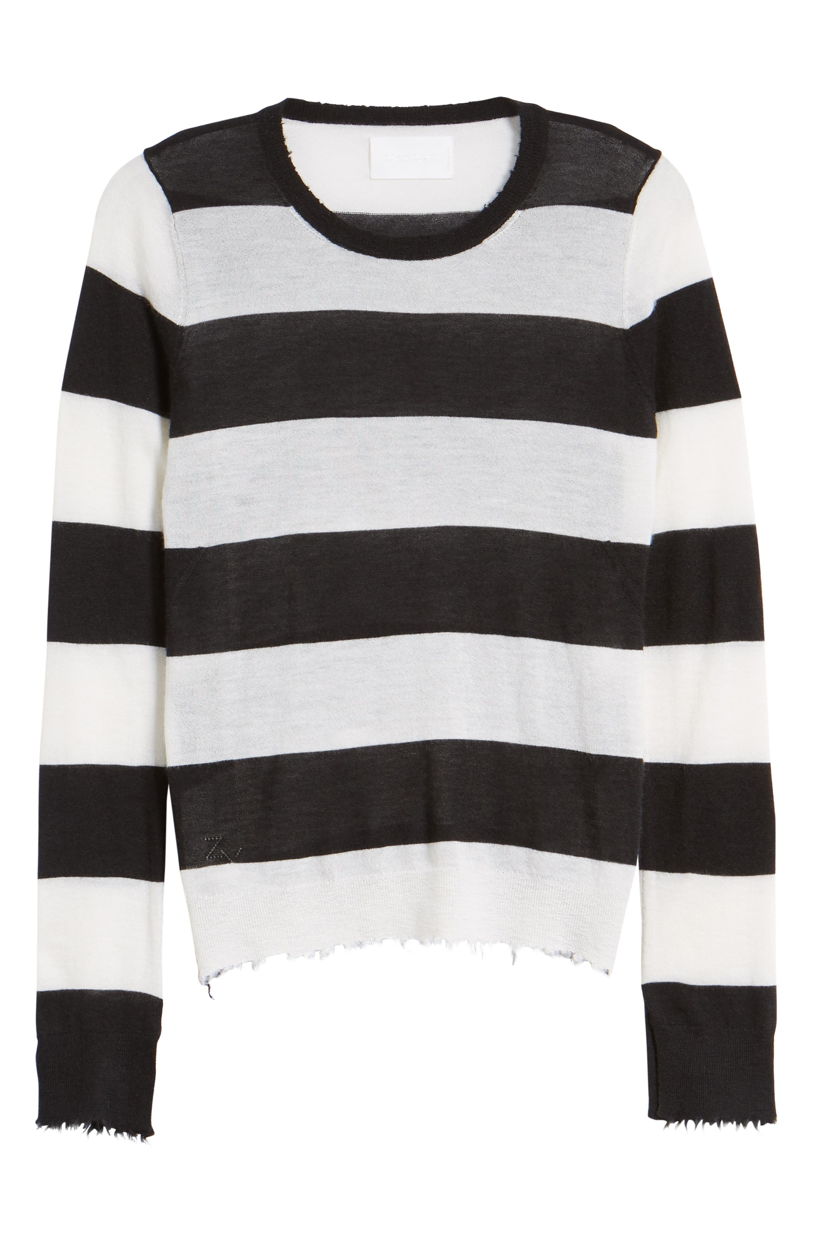 Source Stripe Cashmere Sweater,                             Alternate thumbnail 6, color,                             001