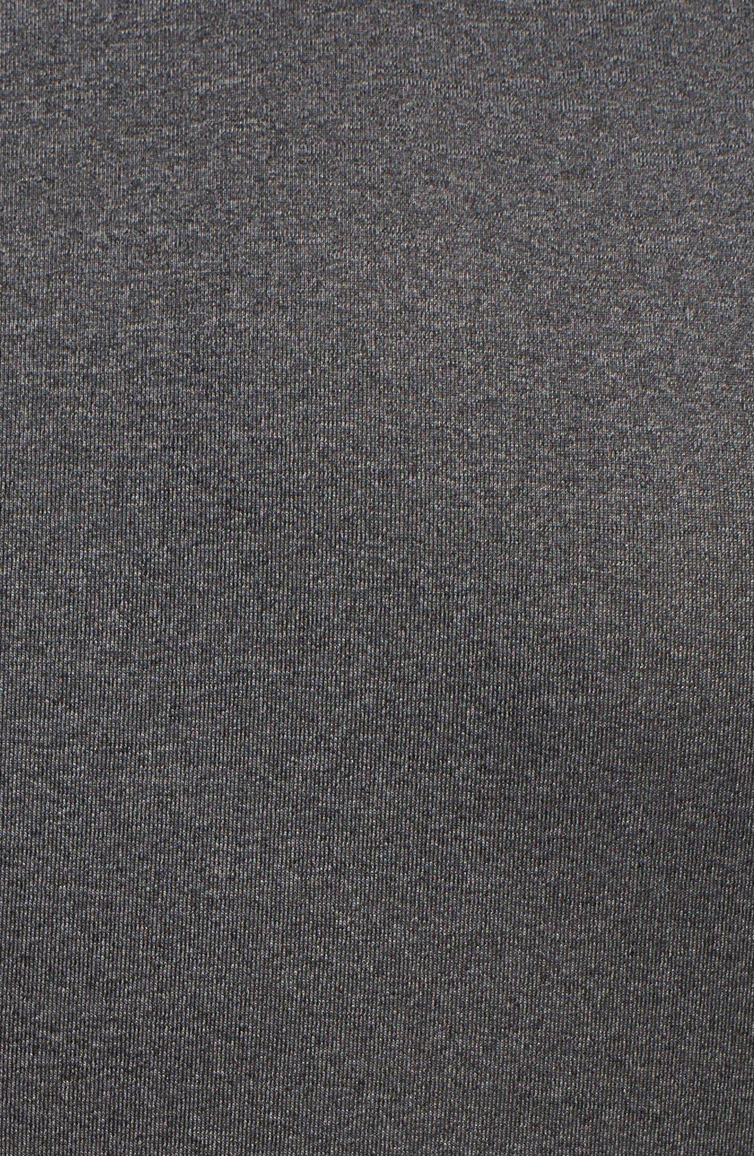 HeatGear<sup>®</sup> Compression Fit Long Sleeve T-Shirt,                             Alternate thumbnail 8, color,                             CARBON HEATHER/ BLACK