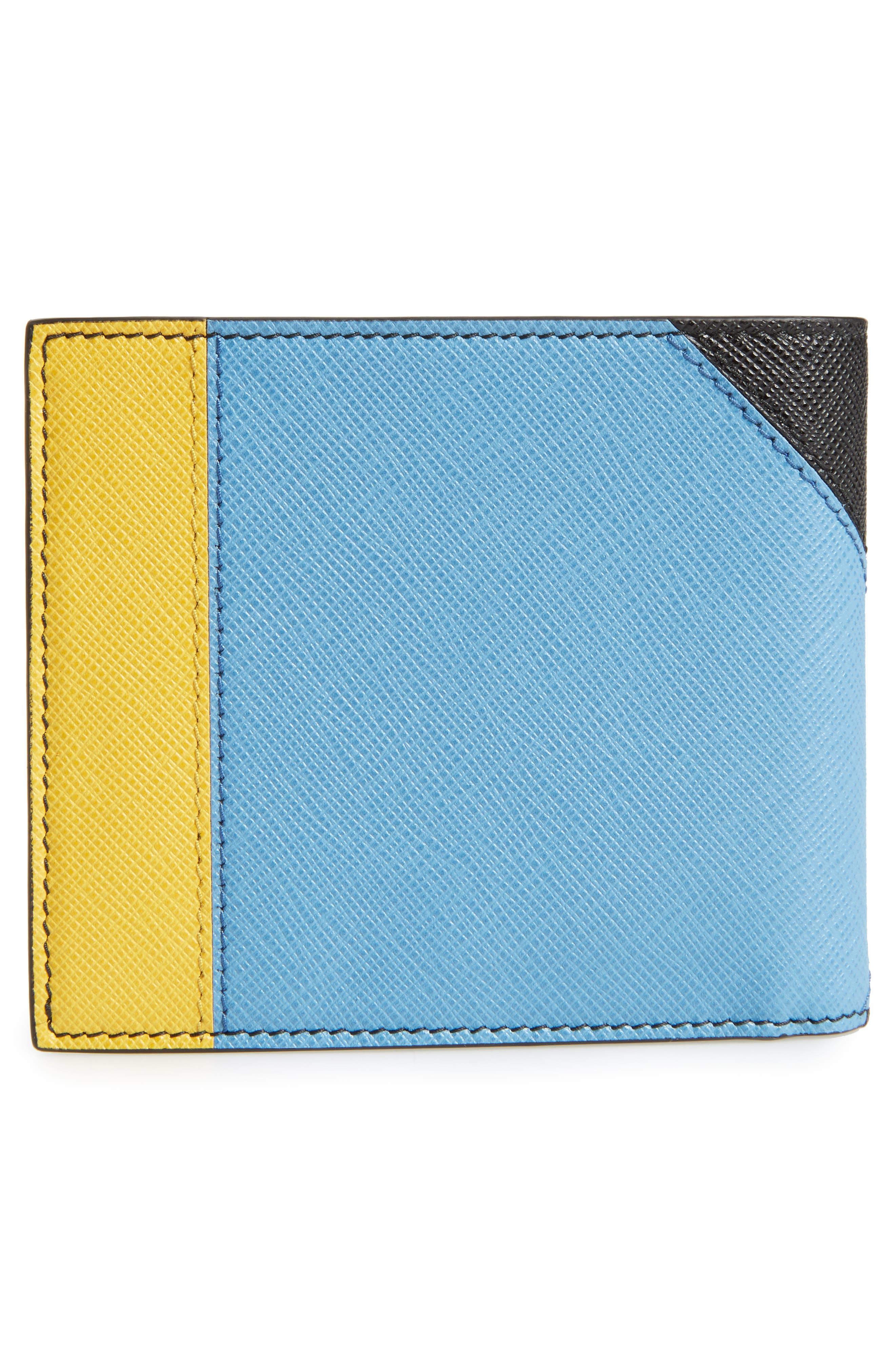 Arrow Calfskin Leather Wallet,                             Alternate thumbnail 3, color,                             911