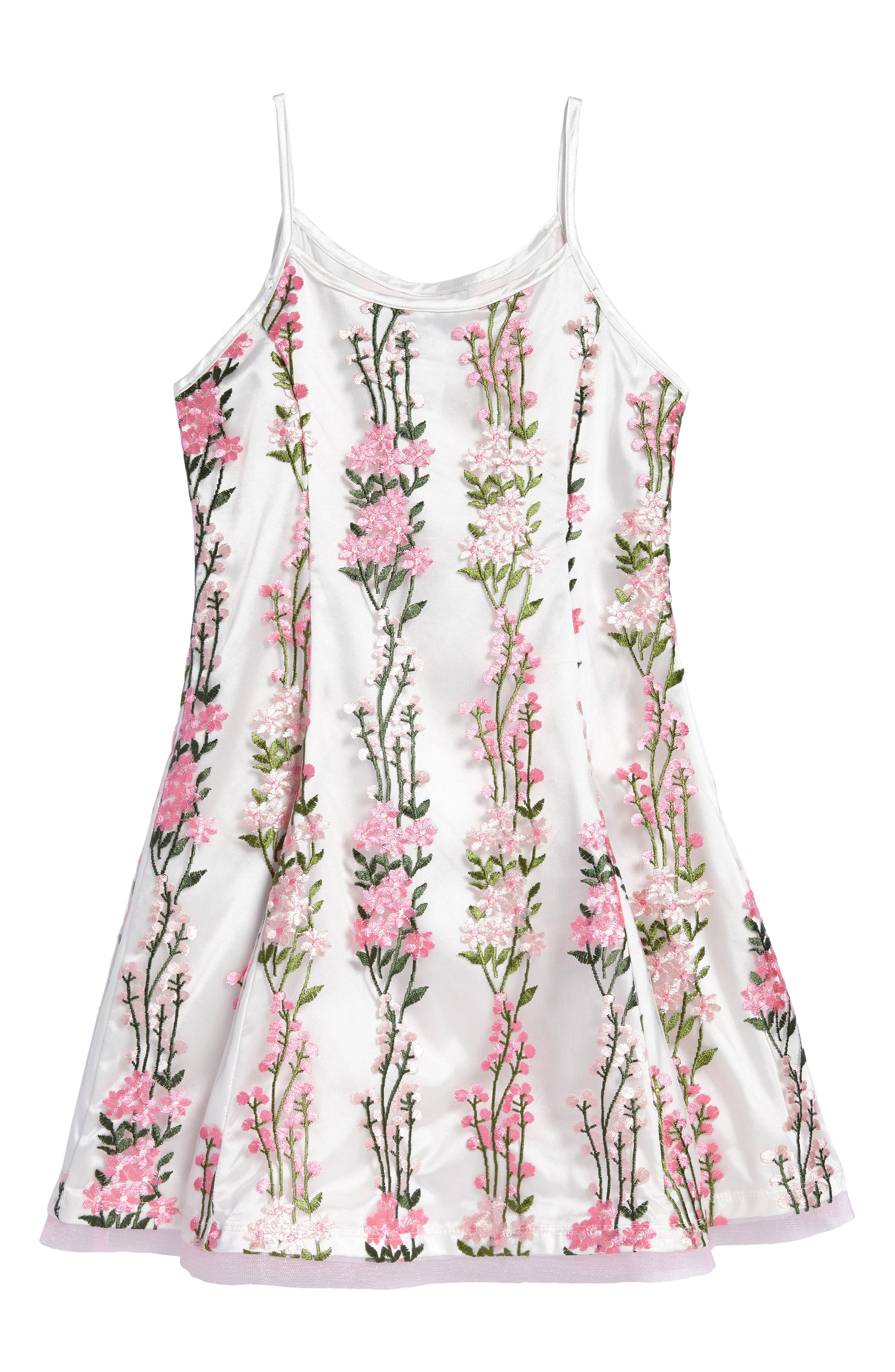 Floral Embroidered Dress,                         Main,                         color, 900