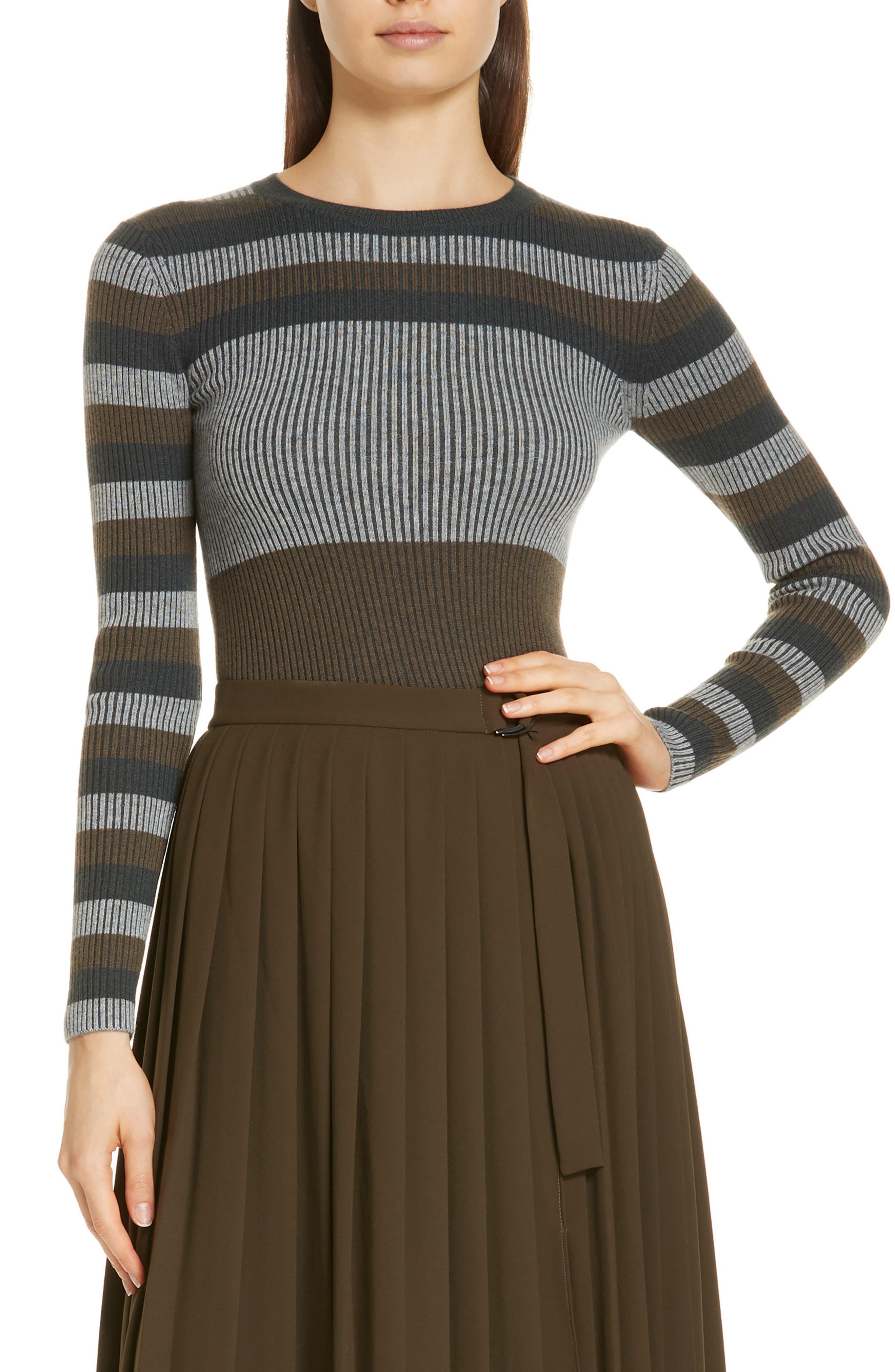 NORDSTROM SIGNATURE,                             Stripe Cashmere Sweater,                             Main thumbnail 1, color,                             315
