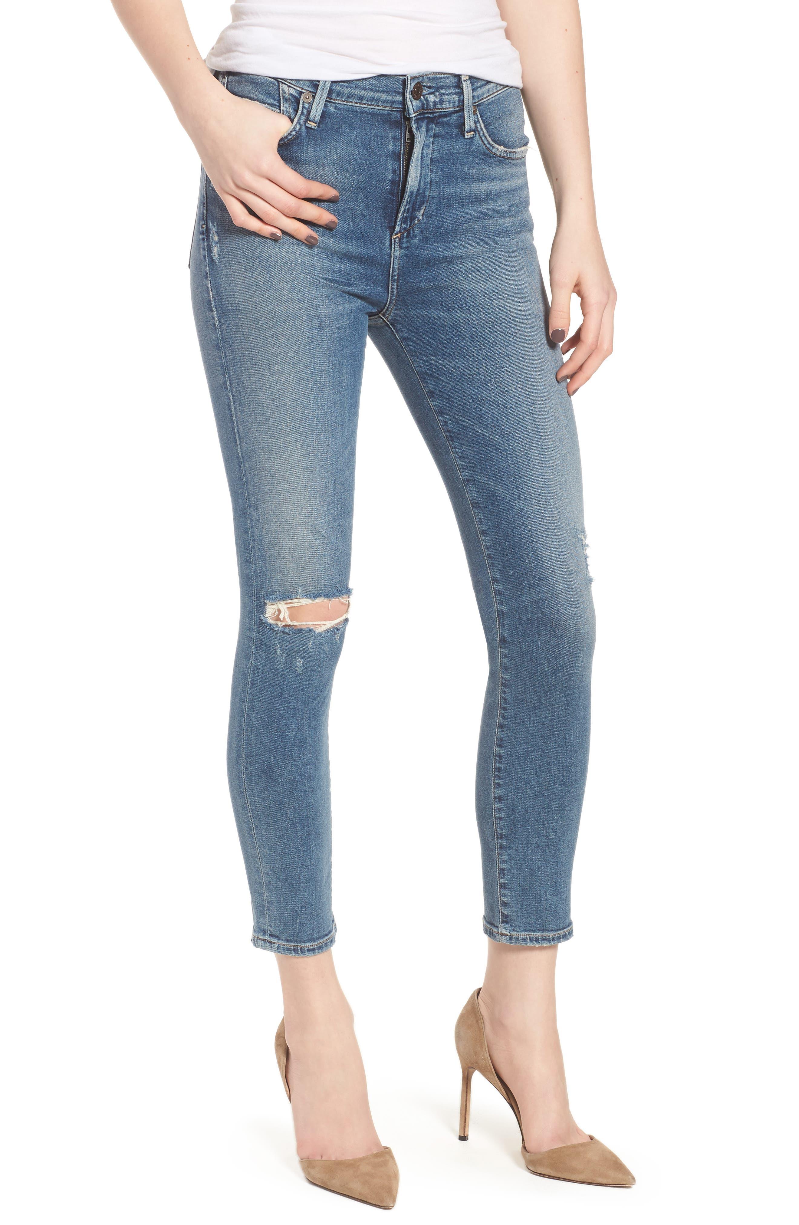 Rocket High Waist Crop Skinny Jeans,                             Main thumbnail 1, color,                             427