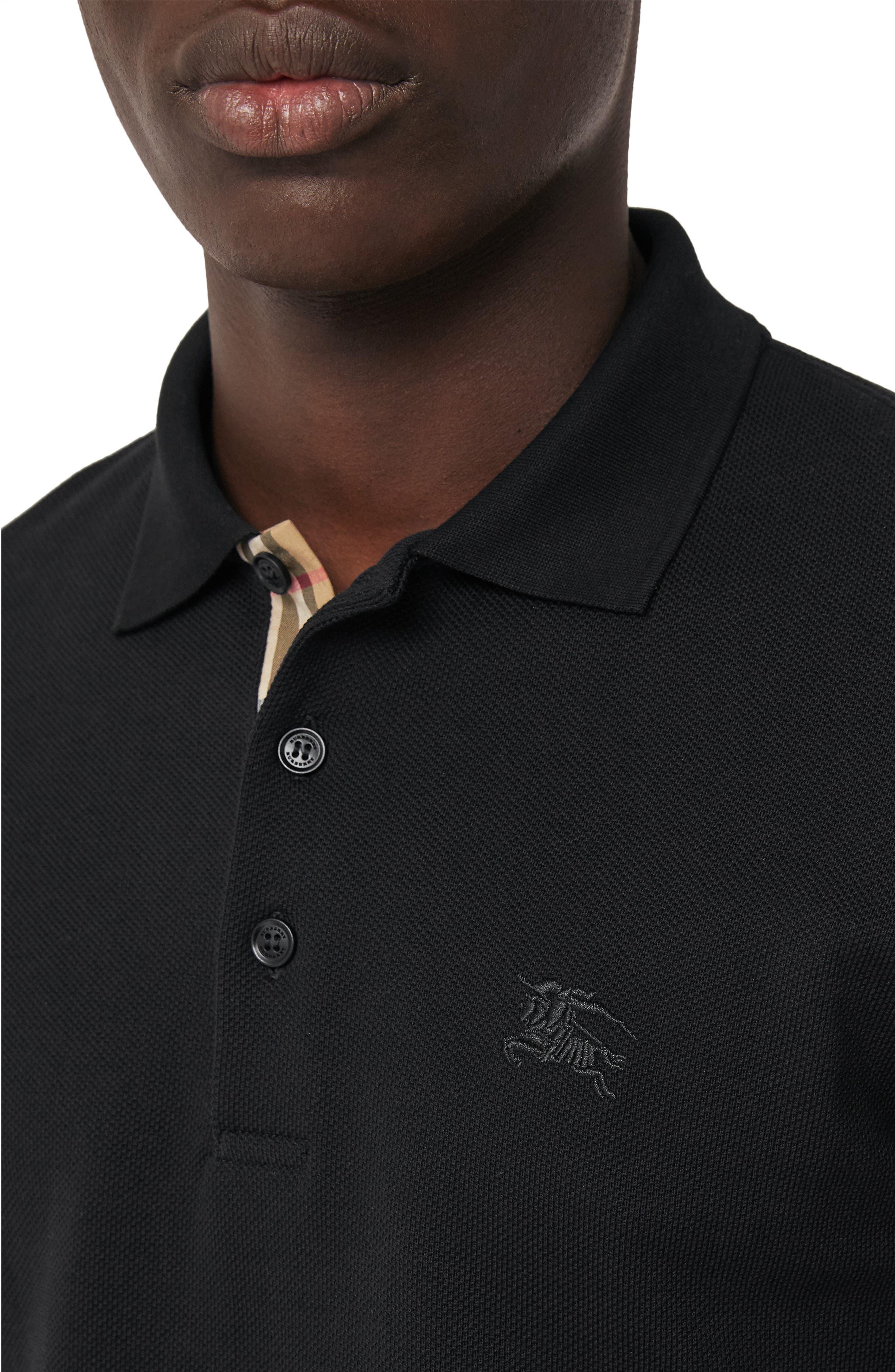 Hartford Long Sleeve Polo,                             Alternate thumbnail 3, color,                             BLACK
