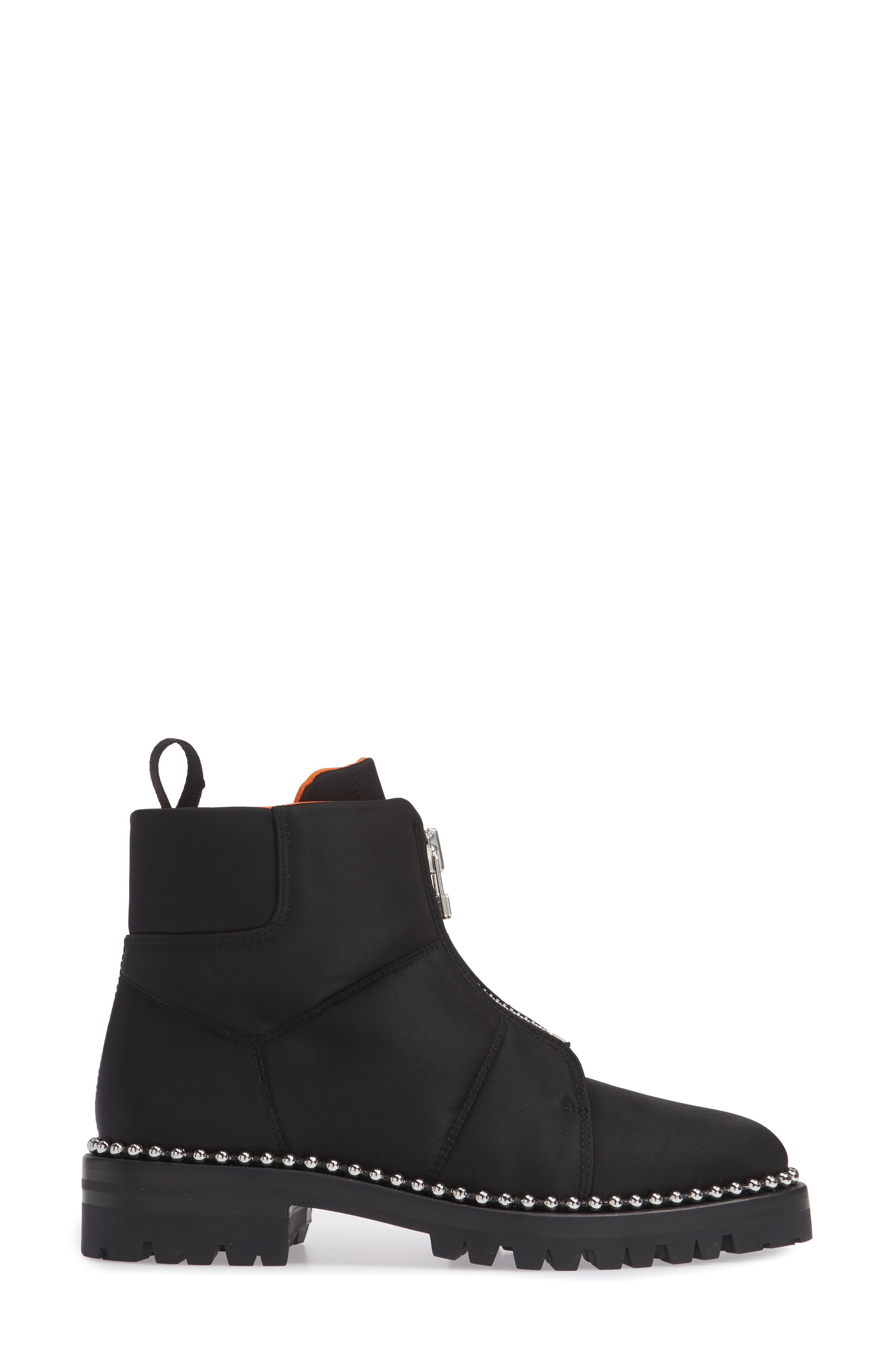 Cooper Studded Boot,                             Alternate thumbnail 3, color,                             BLACK
