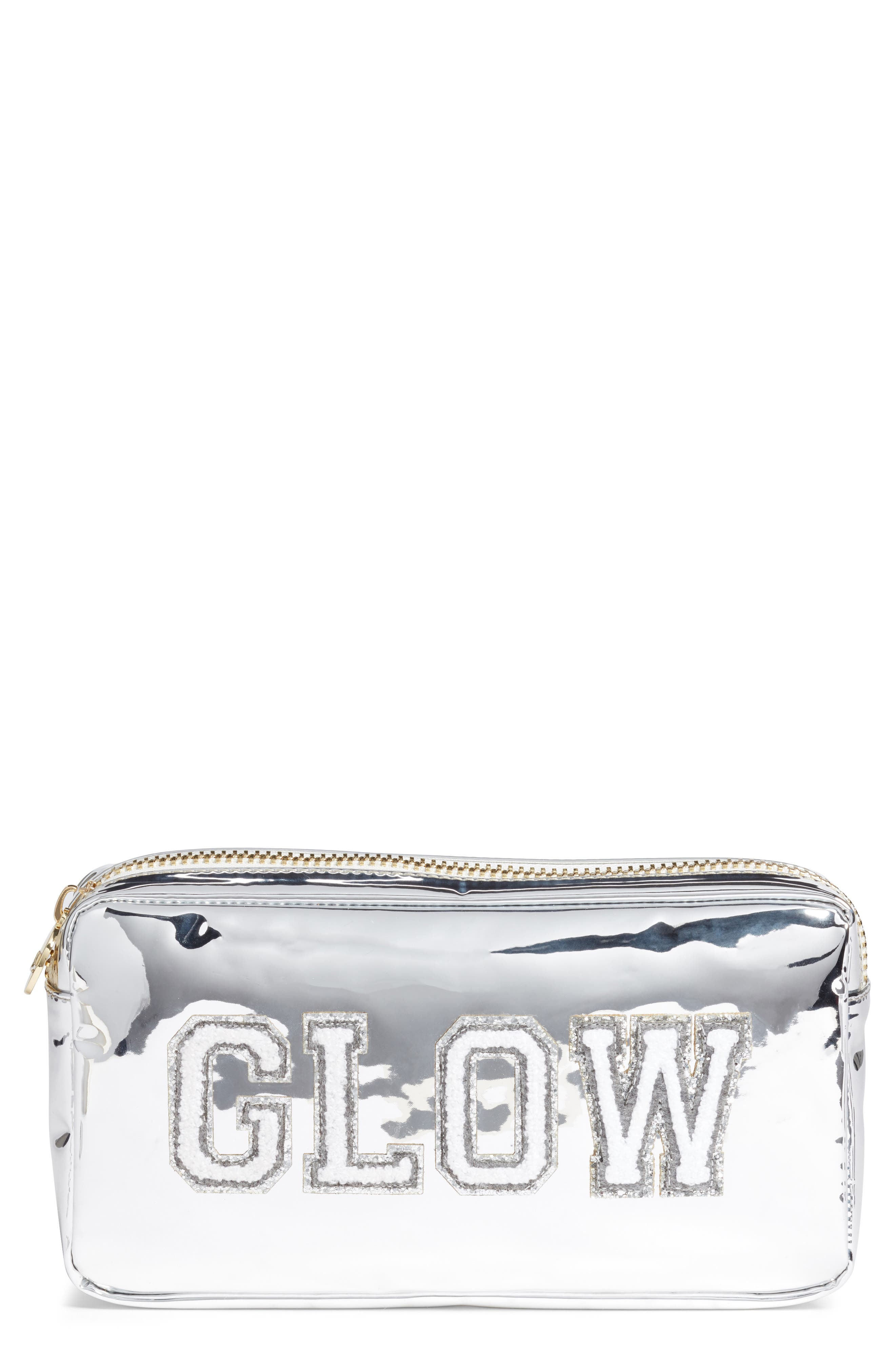 STONEY CLOVER LANE Small Patent Pouch in Silver