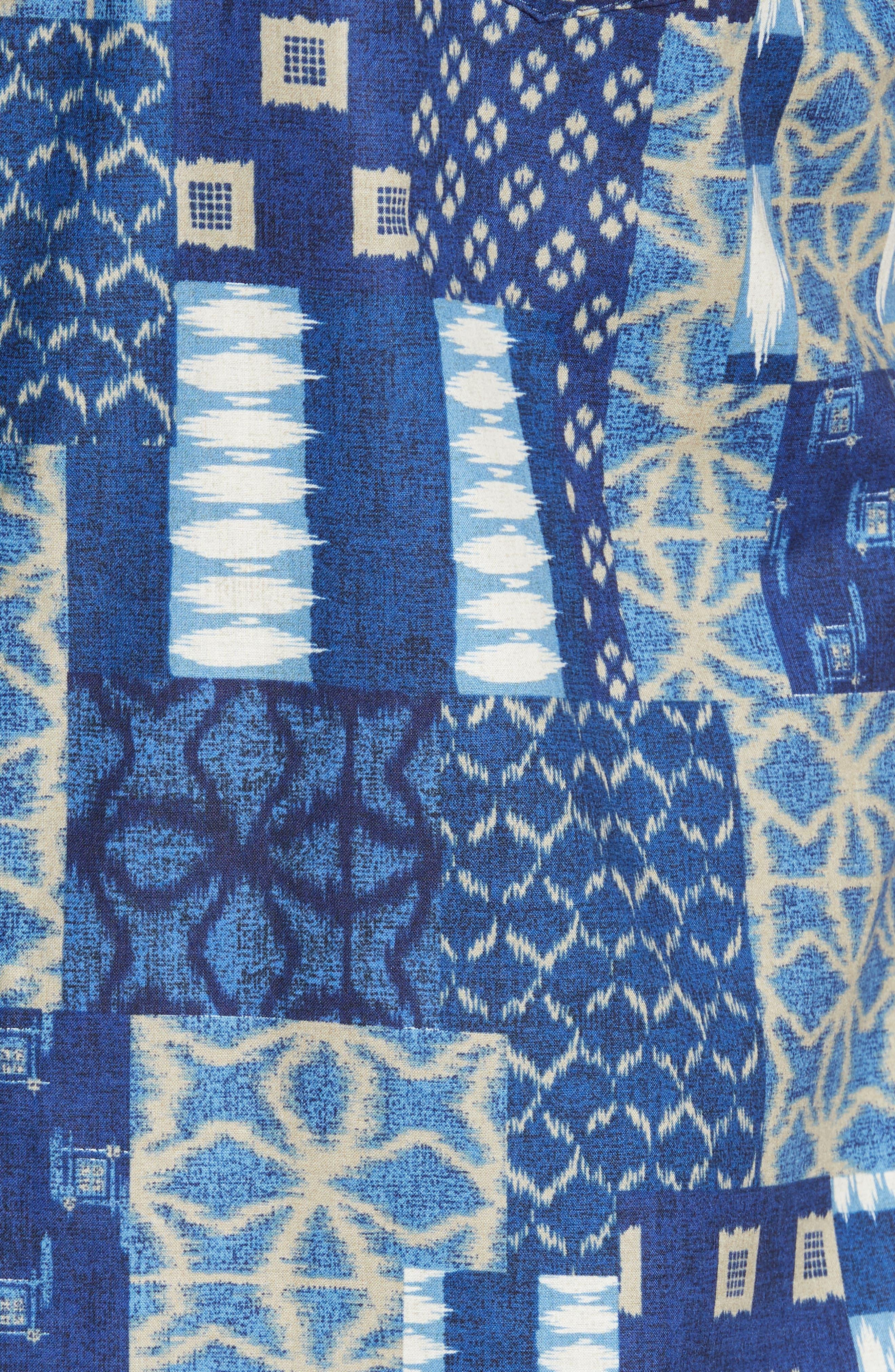Yukata Trim Fit Sport Shirt,                             Alternate thumbnail 5, color,                             NAVY