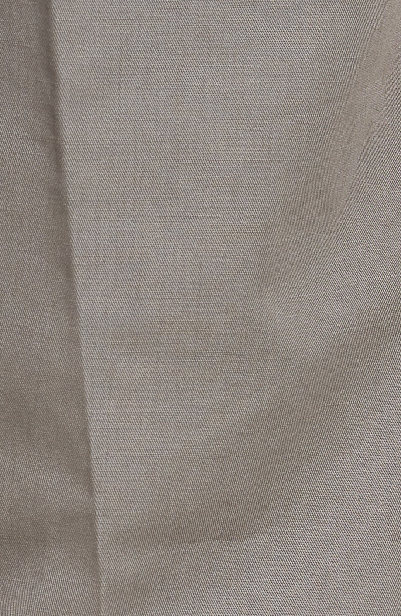 Flat Front Solid Cotton & Linen Trousers,                             Alternate thumbnail 2, color,                             030