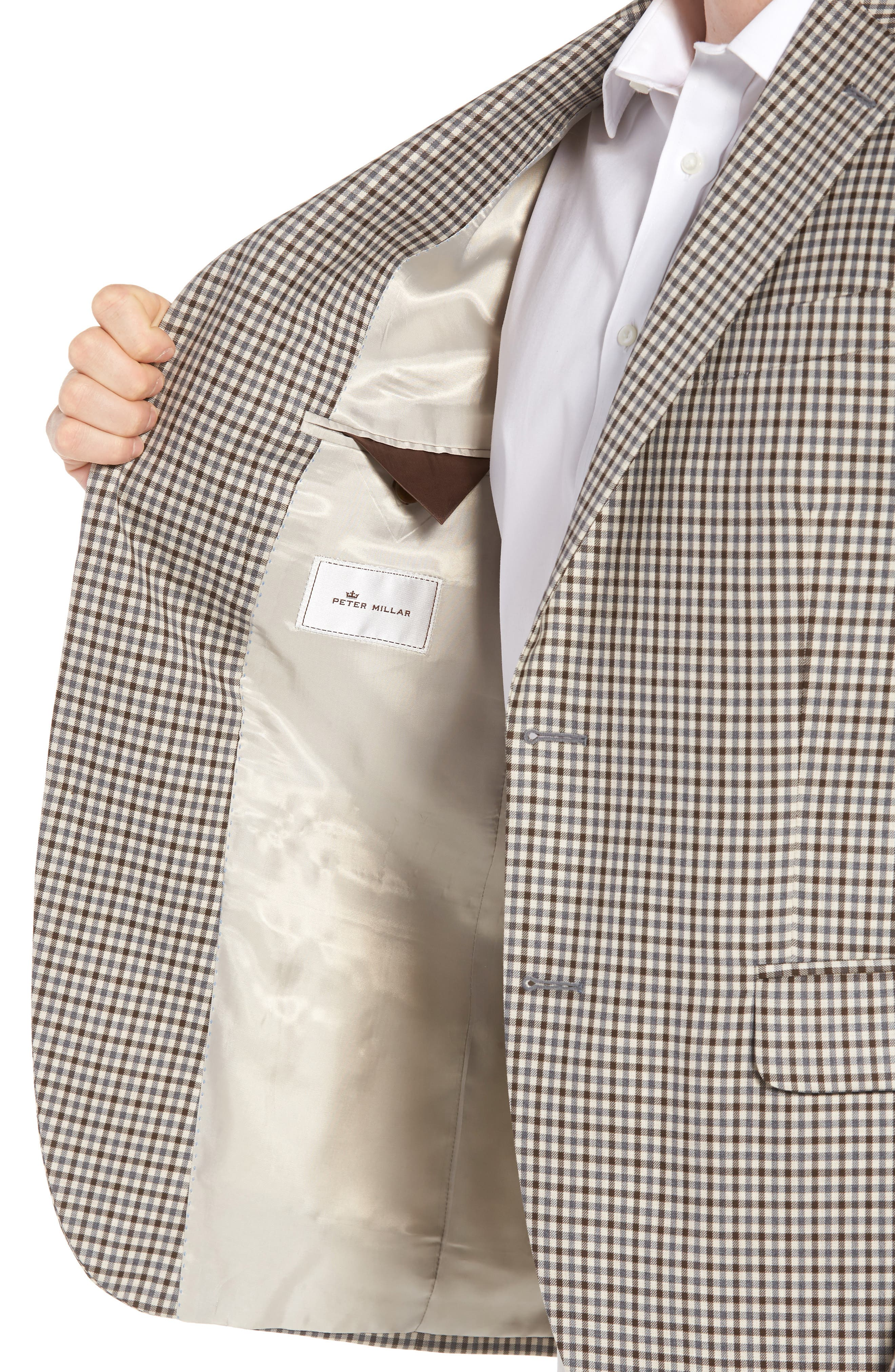 Classic Fit Check Wool Sport Coat,                             Alternate thumbnail 4, color,