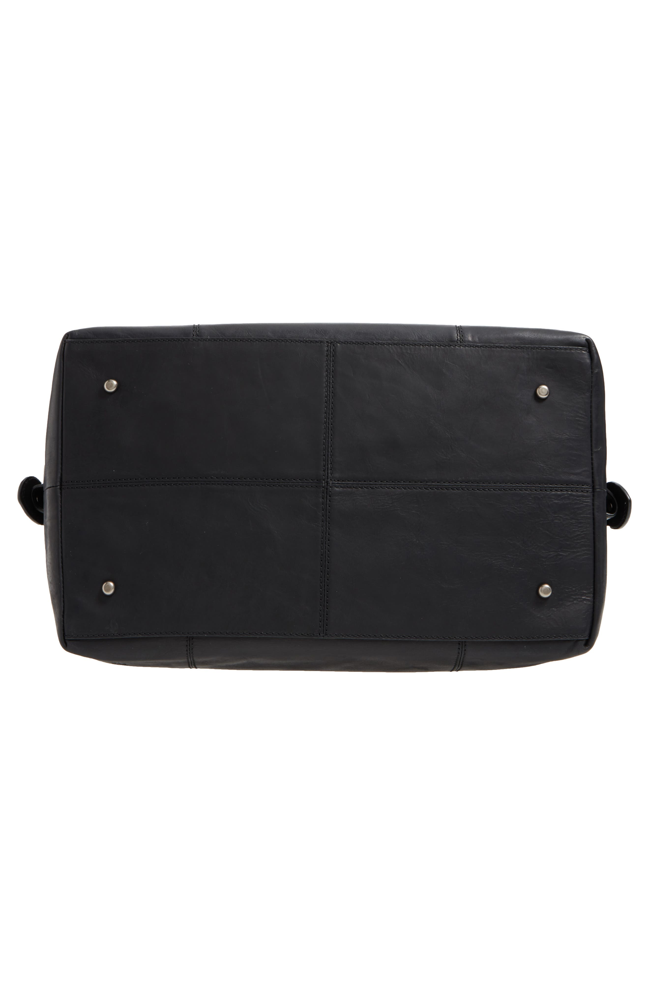 'Logan' Leather Overnight Bag,                             Alternate thumbnail 6, color,                             001
