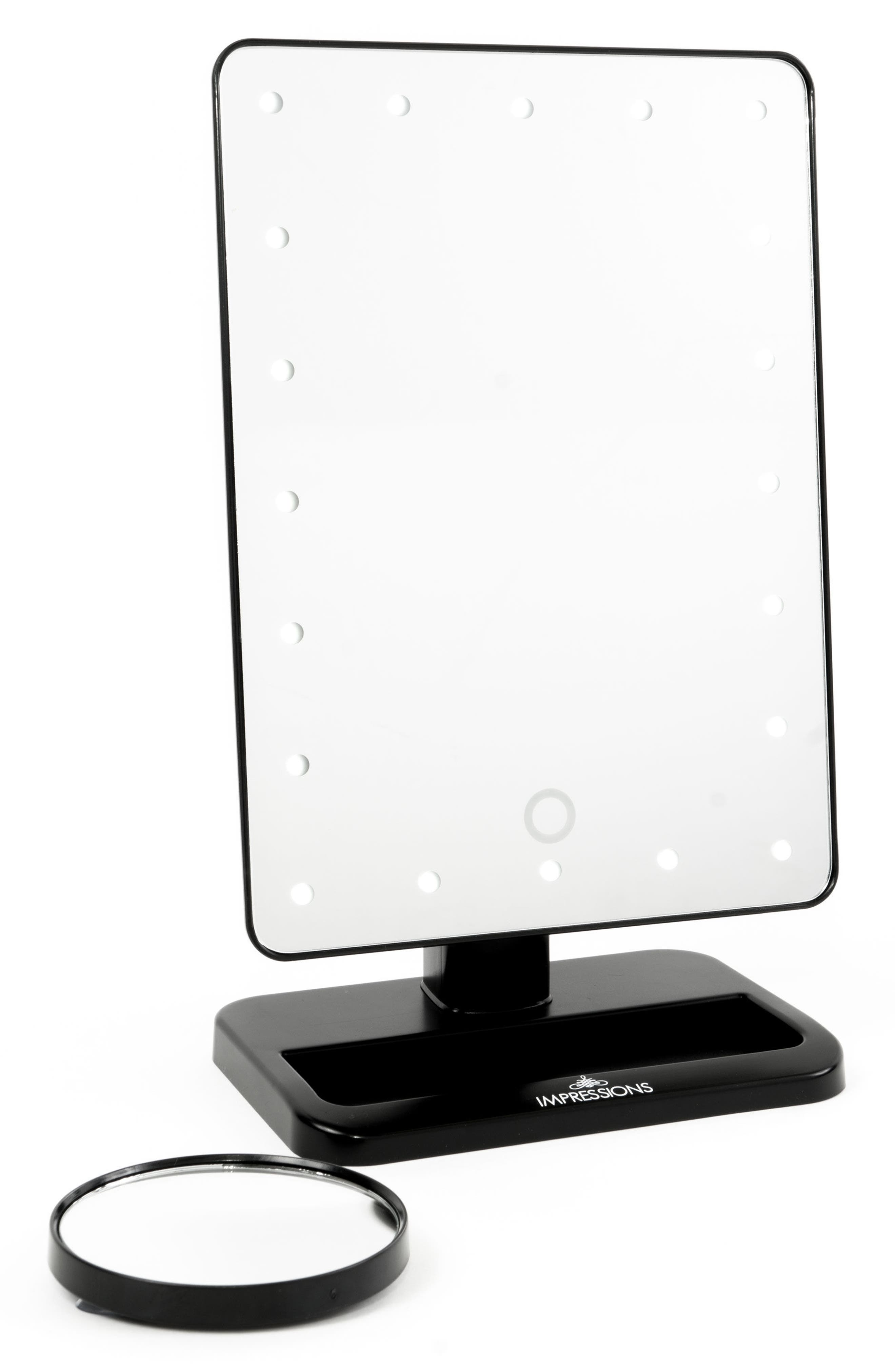 Touch XL Dimmable LED Makeup Mirror with Removable 5x Mirror,                             Alternate thumbnail 3, color,                             001