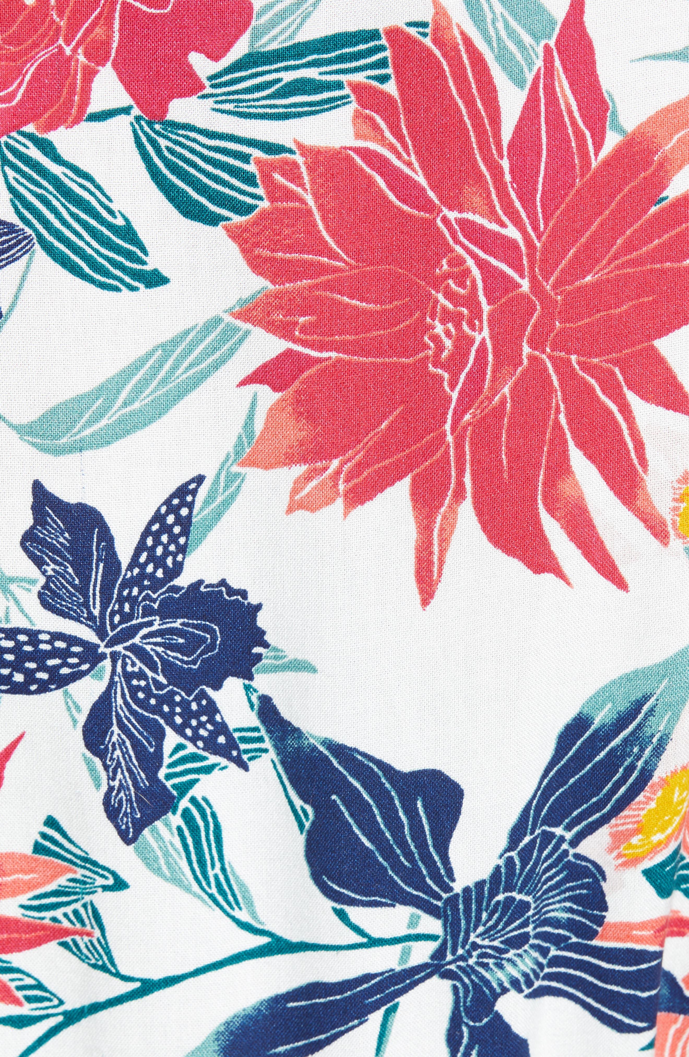 District Nights Floral Print Dress,                             Alternate thumbnail 7, color,                             100