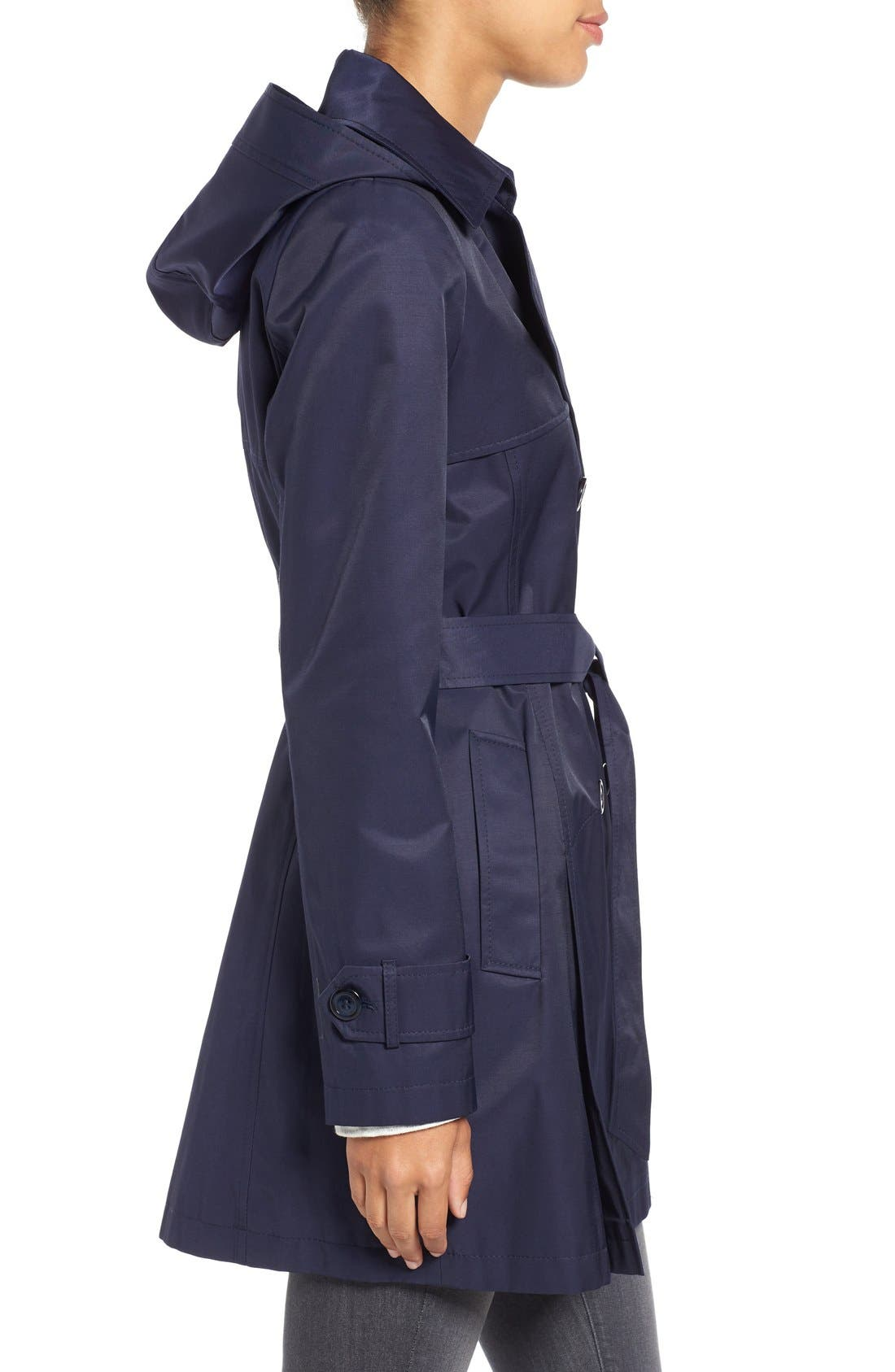 Detachable Hood Trench Coat,                             Alternate thumbnail 23, color,
