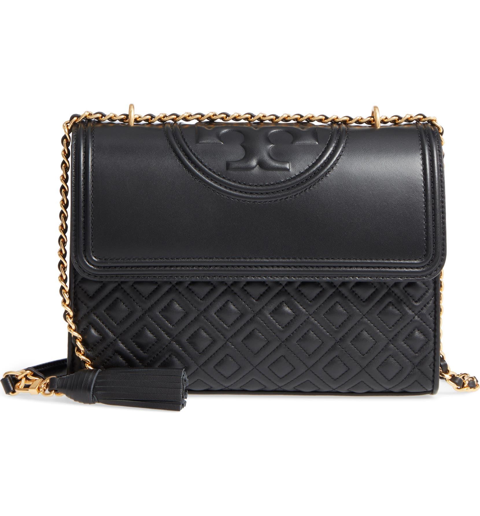 Tory Burch Fleming Leather Convertible Shoulder Bag  d802091ab4de1