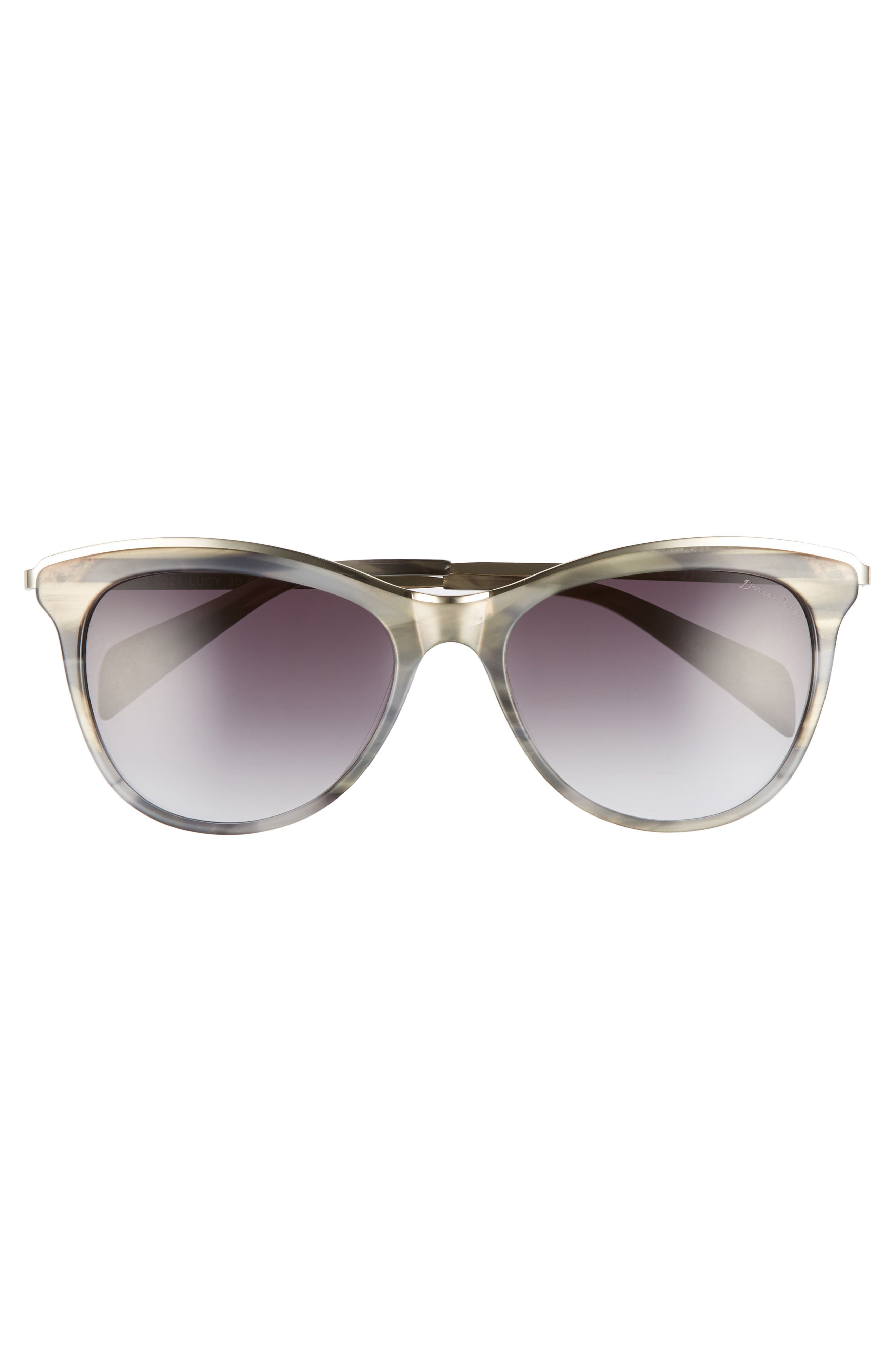 56mm Cat Eye Sunglasses,                             Alternate thumbnail 3, color,                             GREY