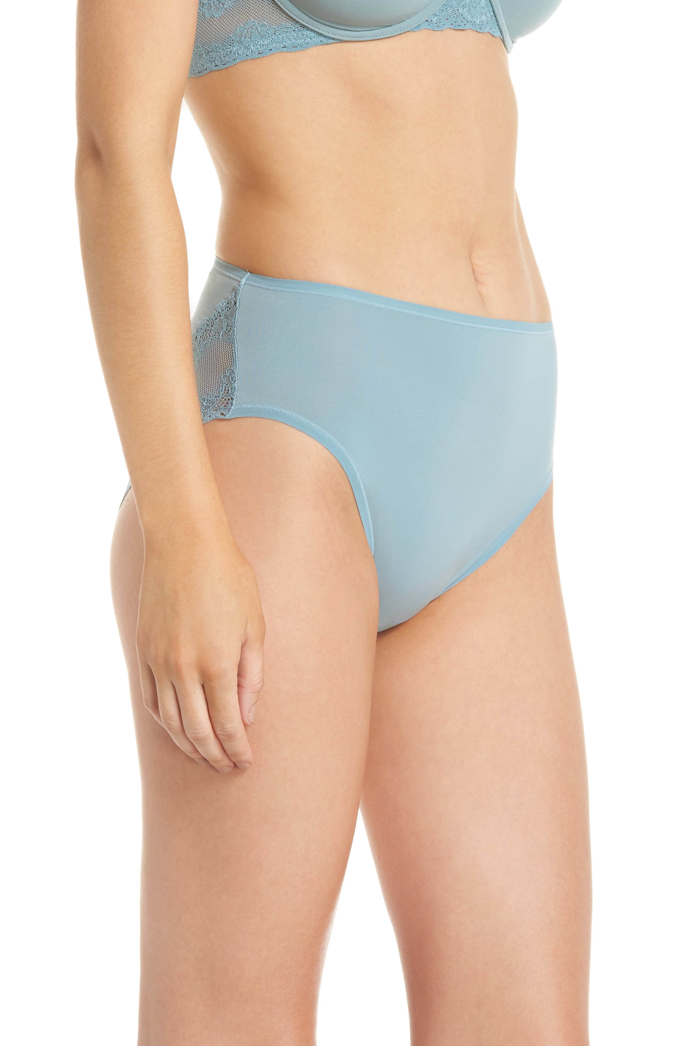 Bliss Perfection French Cut Briefs,                             Alternate thumbnail 3, color,                             SMOKE BLUE
