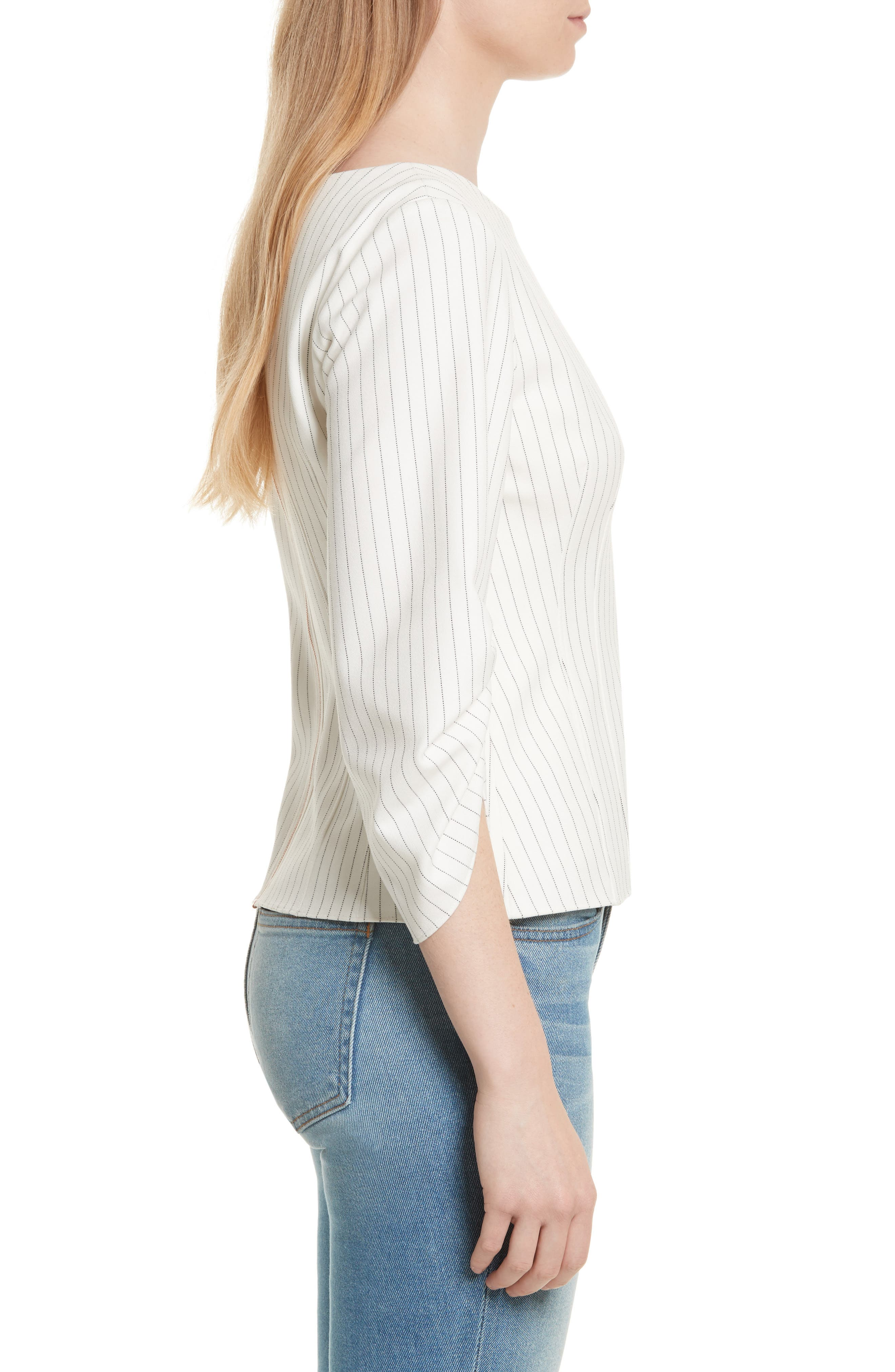 Corset Ruched Sleeve Top,                             Alternate thumbnail 3, color,                             907